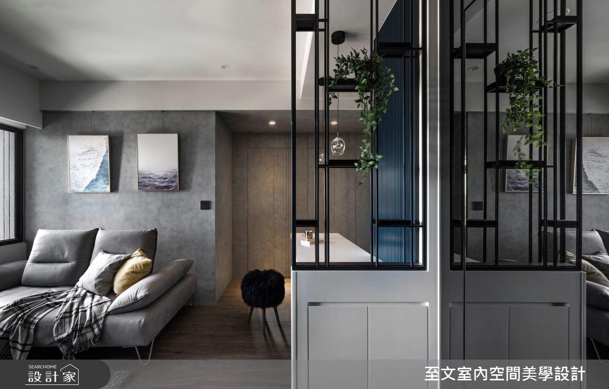 新成屋(5年以下)_簡約風玄關客廳案例圖片_至文室內裝修有限公司_至文_THE BLUES之3