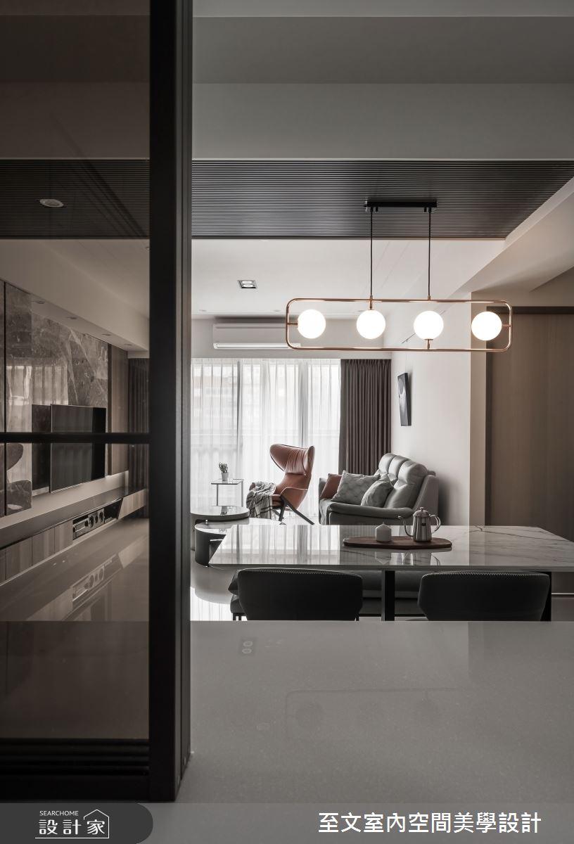 33坪新成屋(5年以下)_現代風餐廳案例圖片_至文室內裝修有限公司_至文_逸境漫遊之3