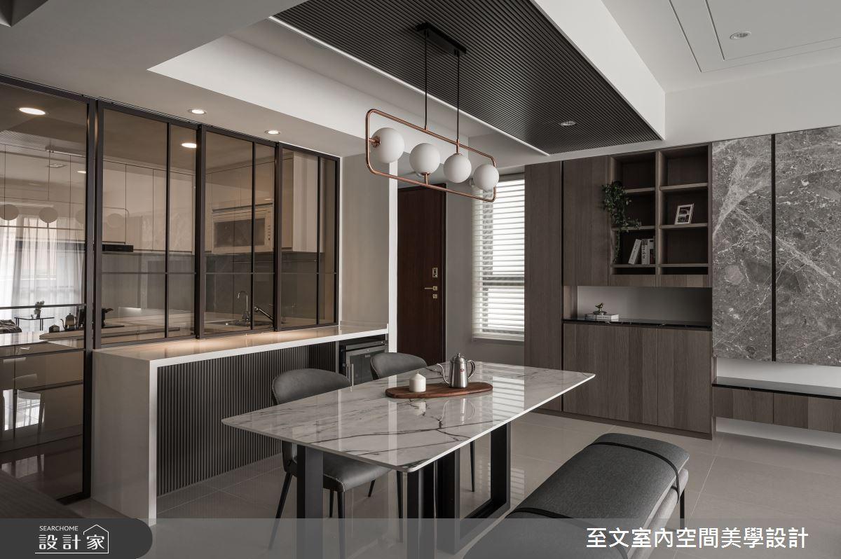 33坪新成屋(5年以下)_現代風餐廳案例圖片_至文室內裝修有限公司_至文_逸境漫遊之4