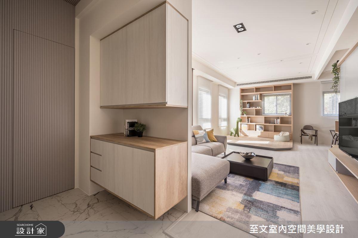 49坪新成屋(5年以下)_北歐風玄關案例圖片_至文室內裝修有限公司_至文_橙光之2