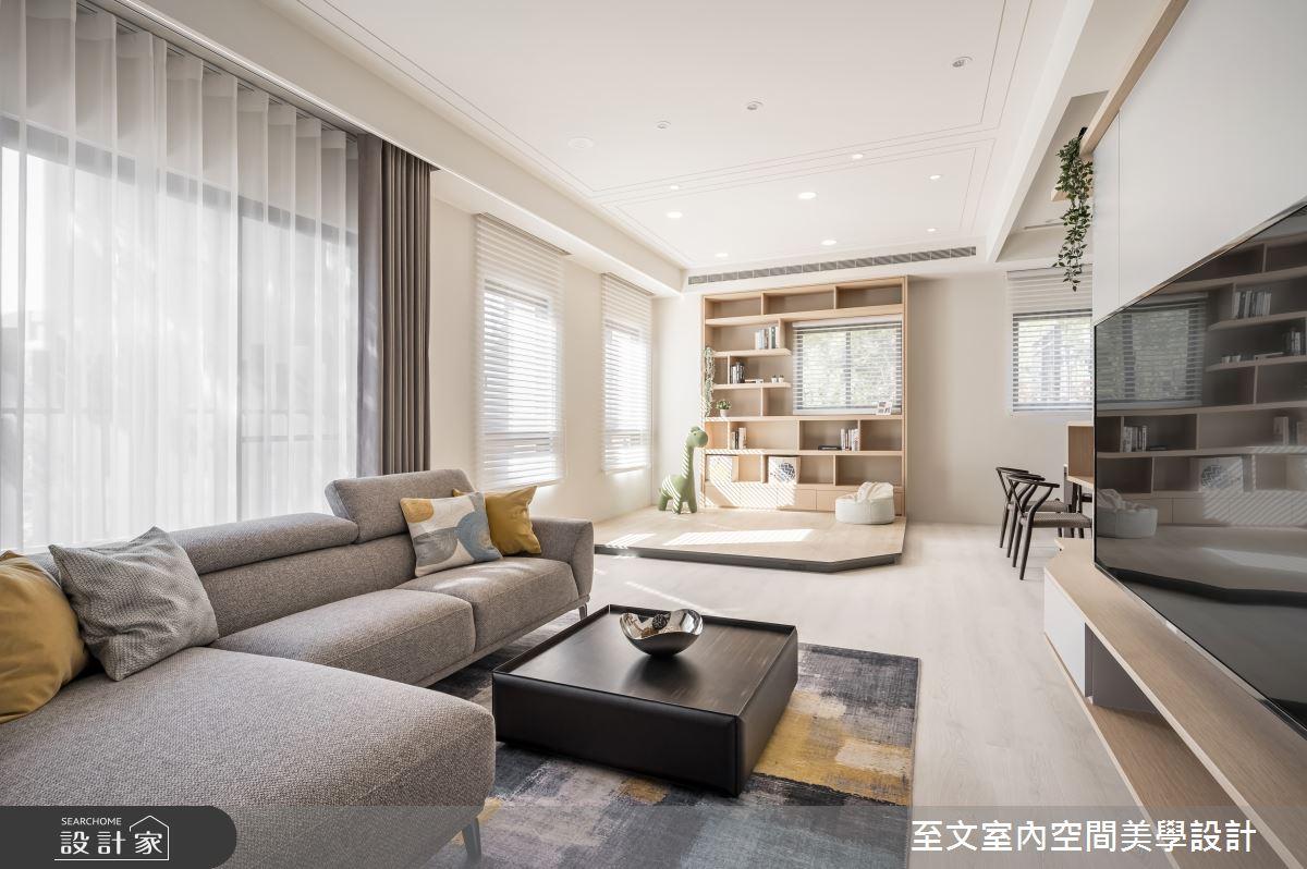 49坪新成屋(5年以下)_北歐風客廳案例圖片_至文室內裝修有限公司_至文_橙光之4
