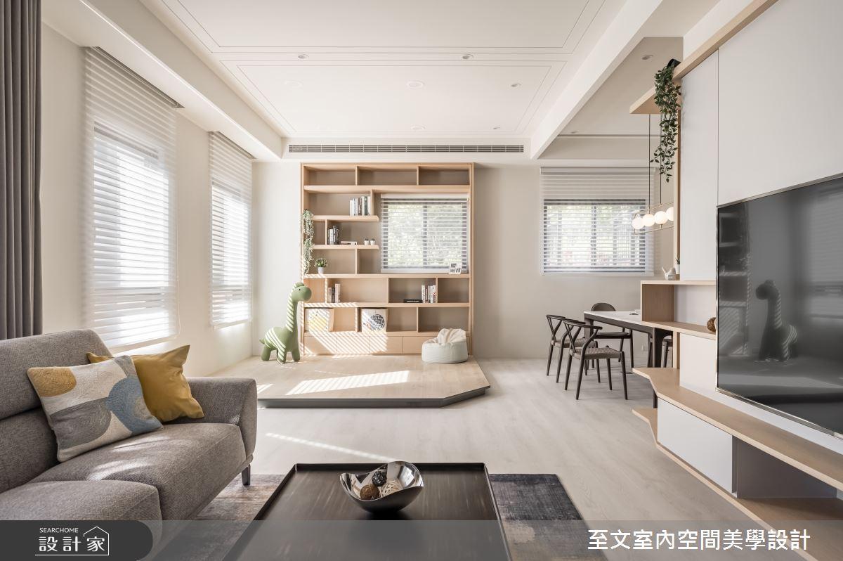49坪新成屋(5年以下)_北歐風客廳案例圖片_至文室內裝修有限公司_至文_橙光之5