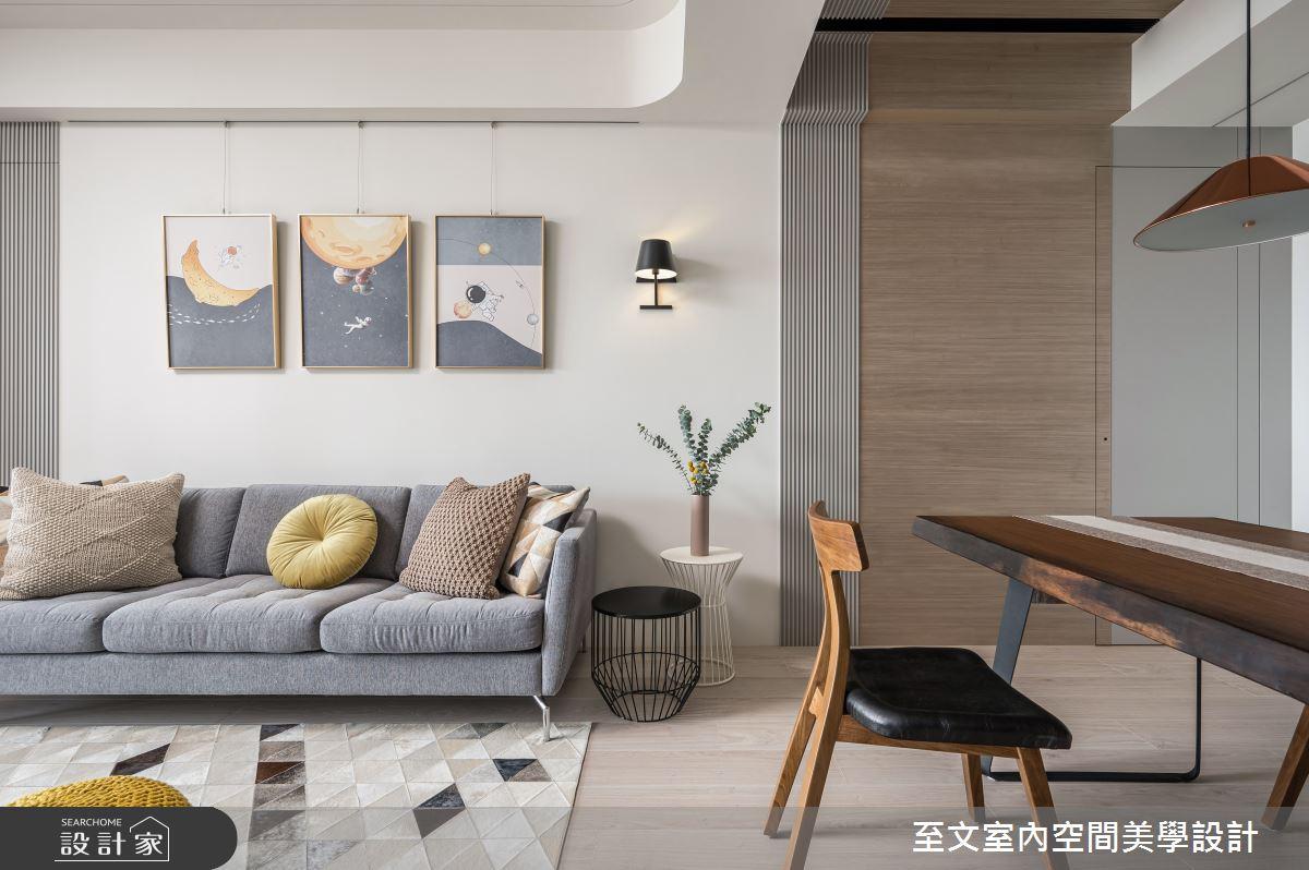 新成屋(5年以下)_北歐風客廳案例圖片_至文室內裝修有限公司_至文_一抹。韶光之5