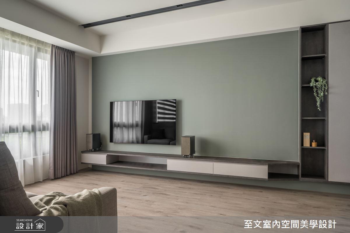23坪新成屋(5年以下)_簡約風客廳案例圖片_至文室內裝修有限公司_至文_藝。意境之4
