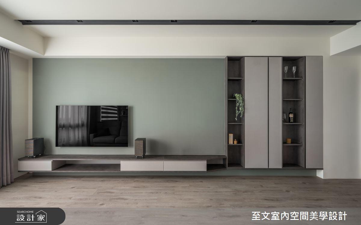 23坪新成屋(5年以下)_簡約風客廳案例圖片_至文室內裝修有限公司_至文_藝。意境之3