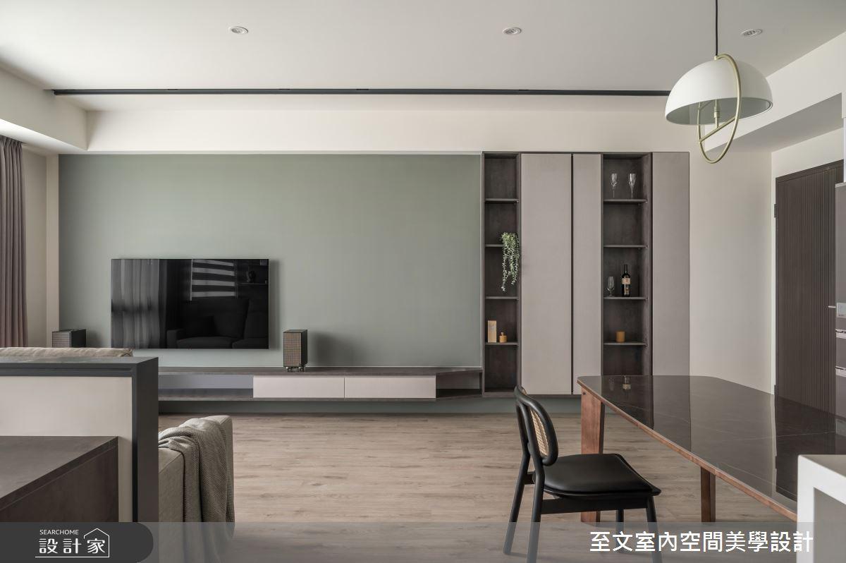 23坪新成屋(5年以下)_簡約風客廳案例圖片_至文室內裝修有限公司_至文_藝。意境之2