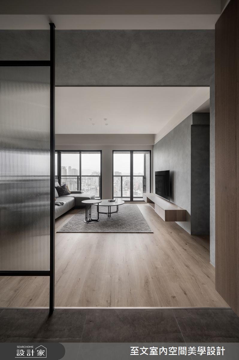 42坪新成屋(5年以下)_簡約風案例圖片_至文室內裝修有限公司_至文_灰。悸動之1