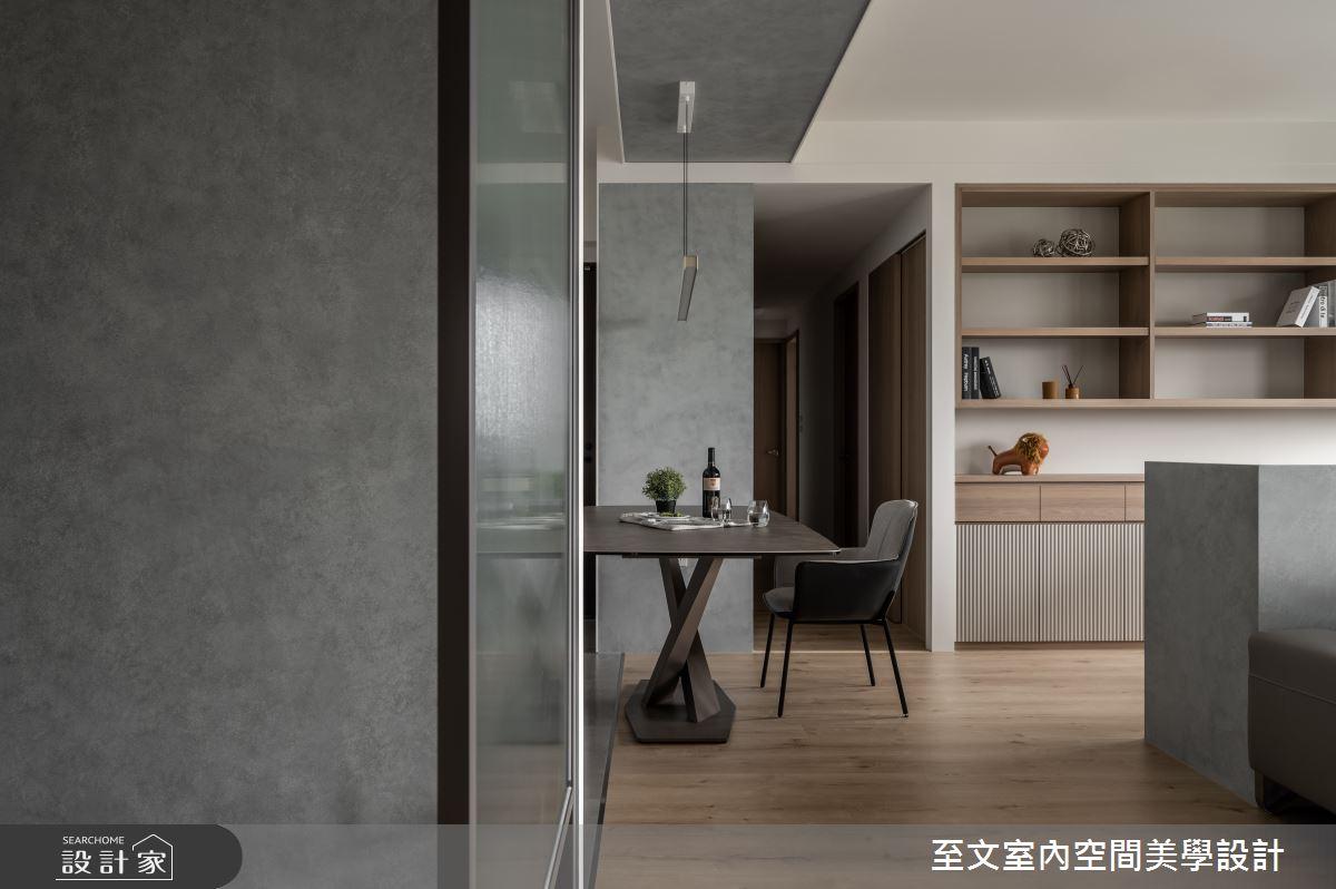 42坪新成屋(5年以下)_簡約風案例圖片_至文室內裝修有限公司_至文_灰。悸動之2