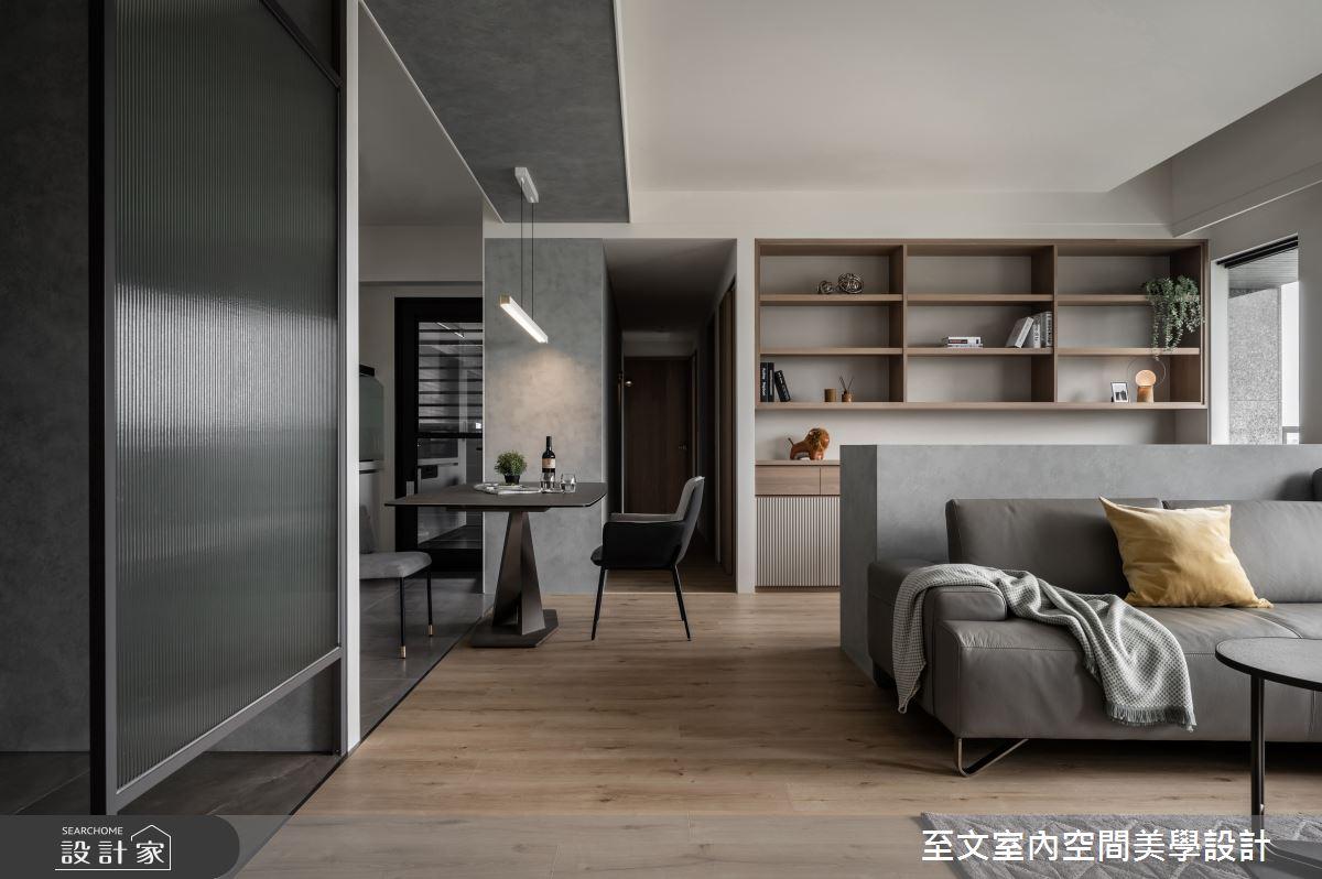 42坪新成屋(5年以下)_簡約風案例圖片_至文室內裝修有限公司_至文_灰。悸動之3