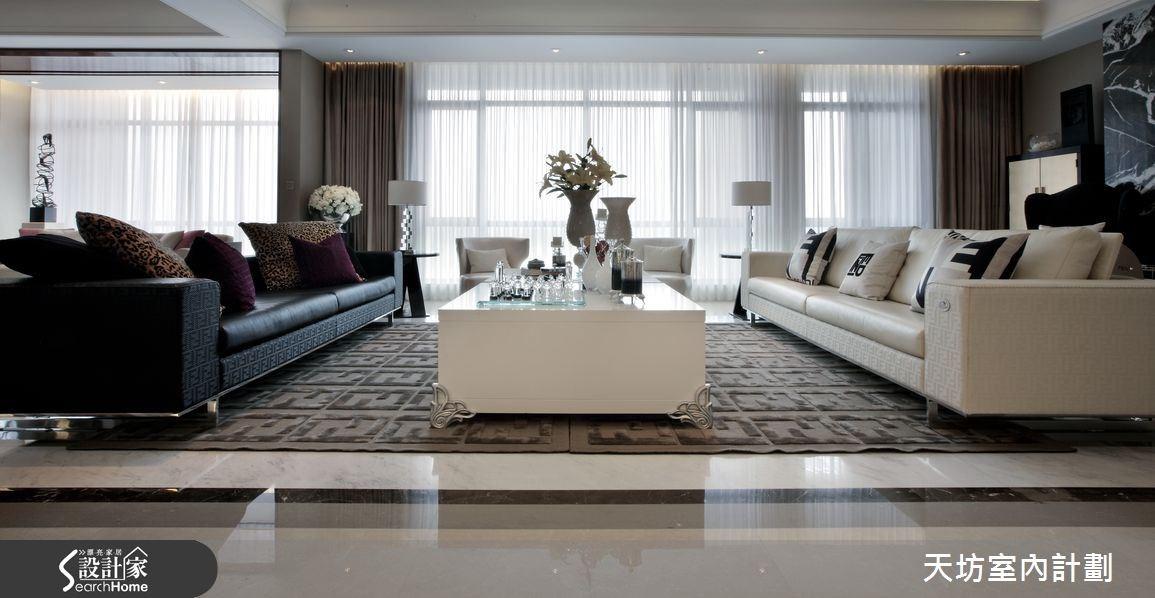 148坪新成屋(5年以下)_新中式風客廳案例圖片_天坊室內計劃有限公司_天坊_04之3