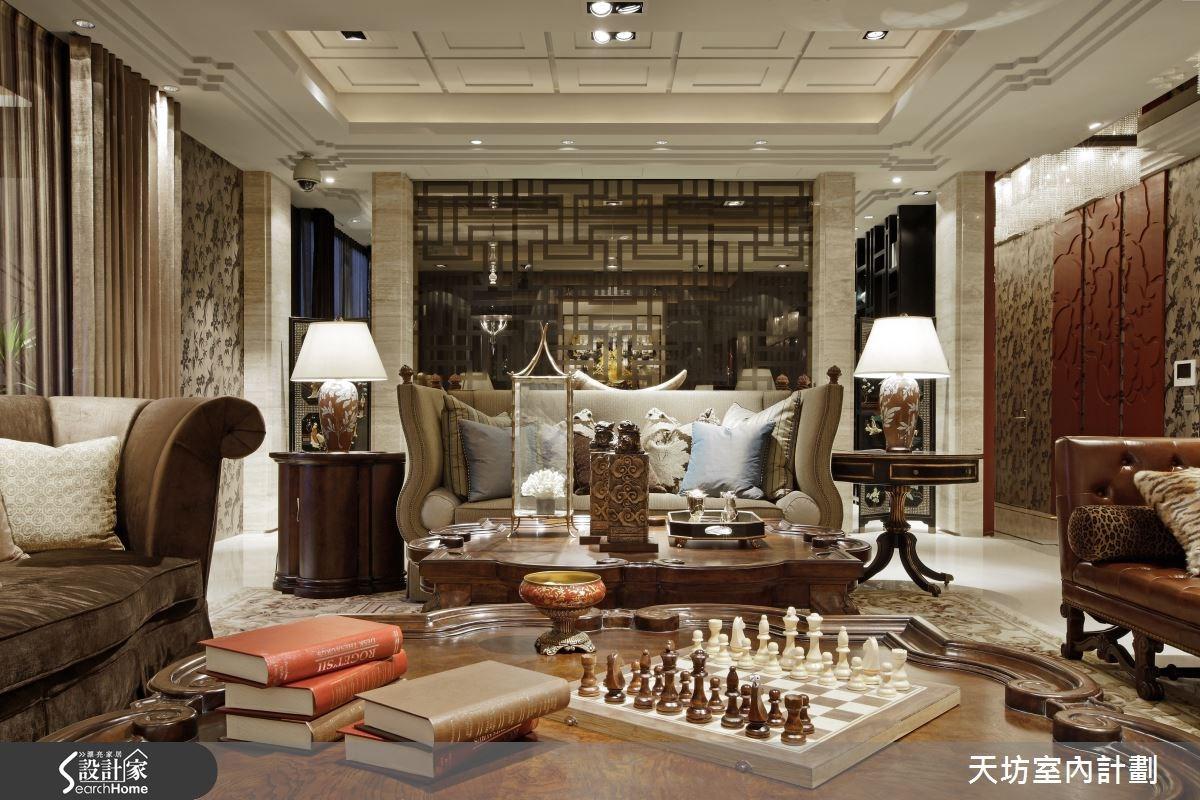 180坪預售屋_新中式風客廳案例圖片_天坊室內計劃有限公司_天坊_05之4