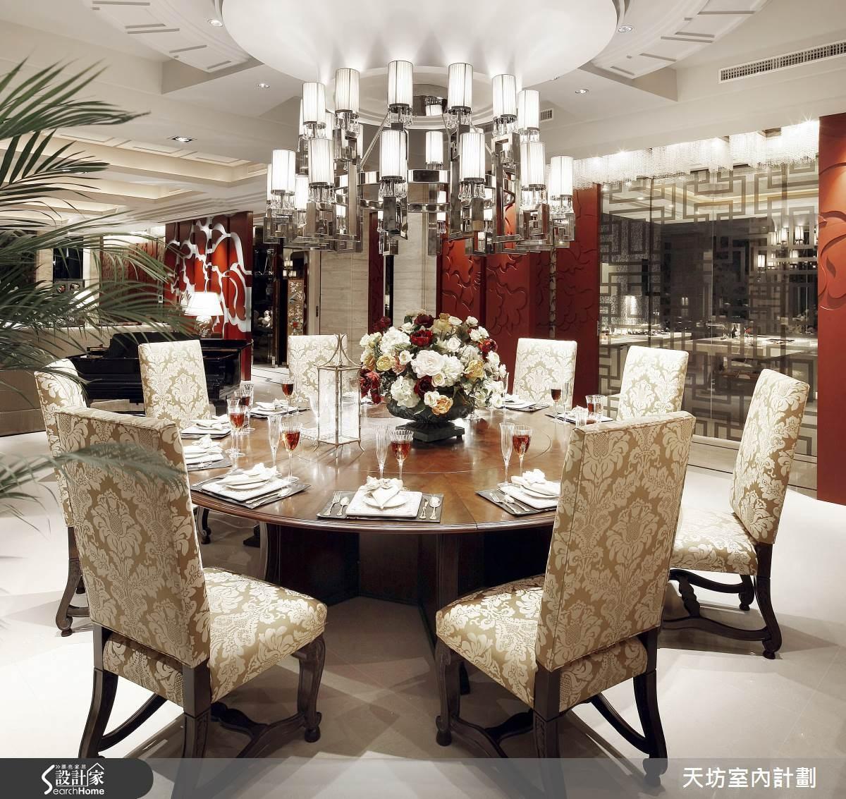 180坪預售屋_新中式風餐廳案例圖片_天坊室內計劃有限公司_天坊_05之6