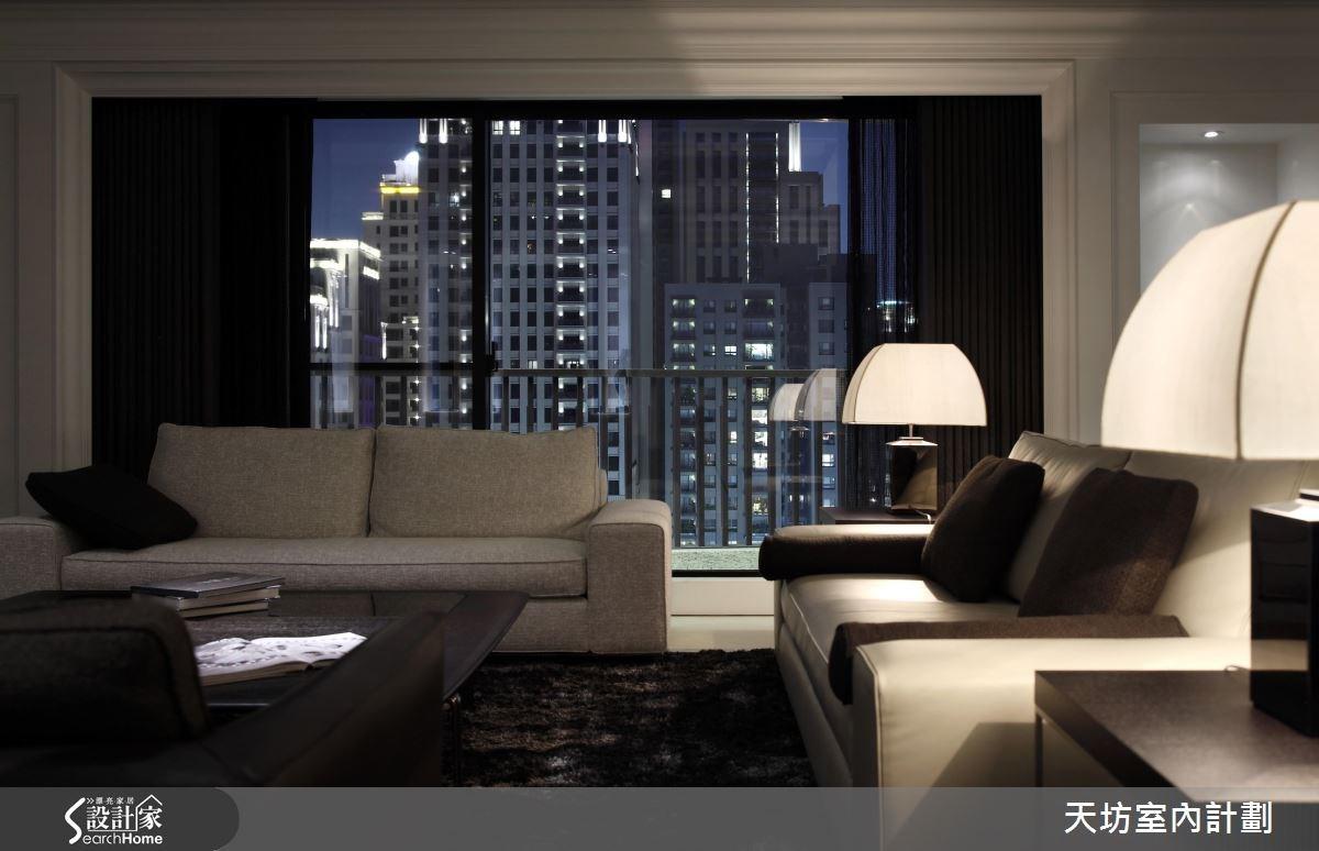 110坪預售屋_新中式風客廳案例圖片_天坊室內計劃有限公司_天坊_10之2