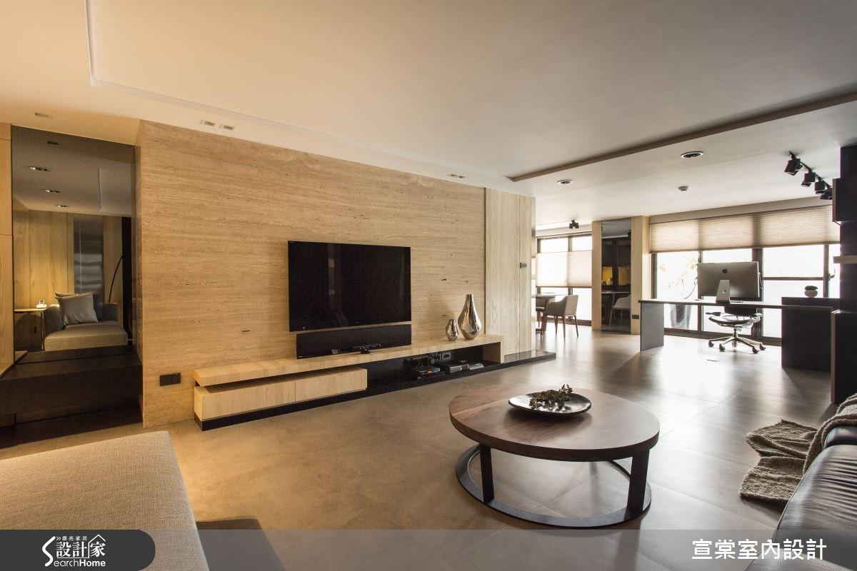 60坪老屋(16~30年)_現代風客廳案例圖片_宣棠室內設計_宣棠_重生延續之3
