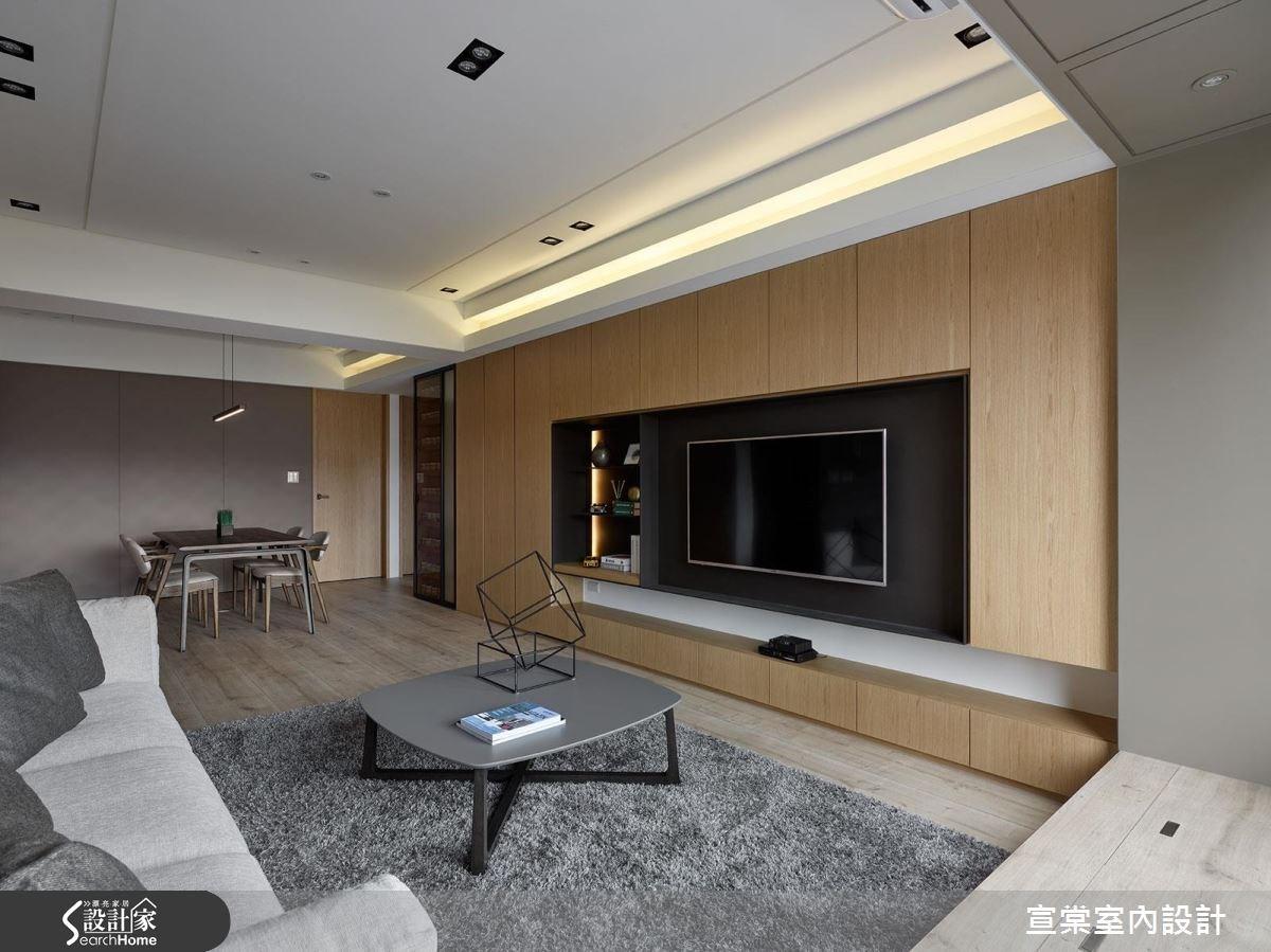 27坪老屋(16~30年)_現代風客廳案例圖片_宣棠室內設計_宣棠_佇 流動之4
