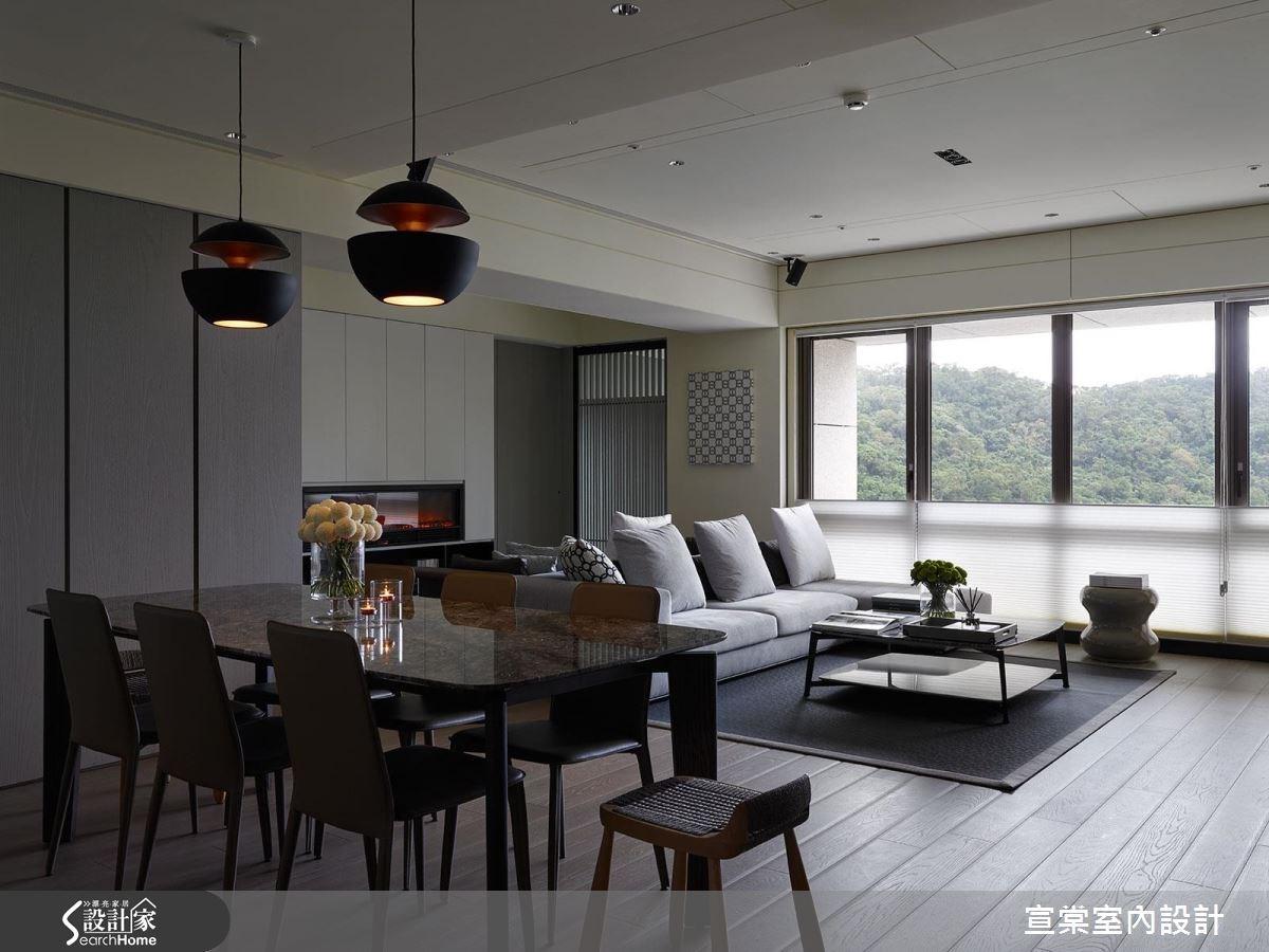 47坪新成屋(5年以下)_現代風餐廳案例圖片_宣棠室內設計_宣棠_拾山歸心之3