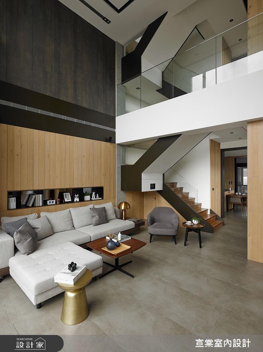 60坪新成屋(5年以下)_休閒風客廳案例圖片_宣棠室內設計_宣棠_極美居之4