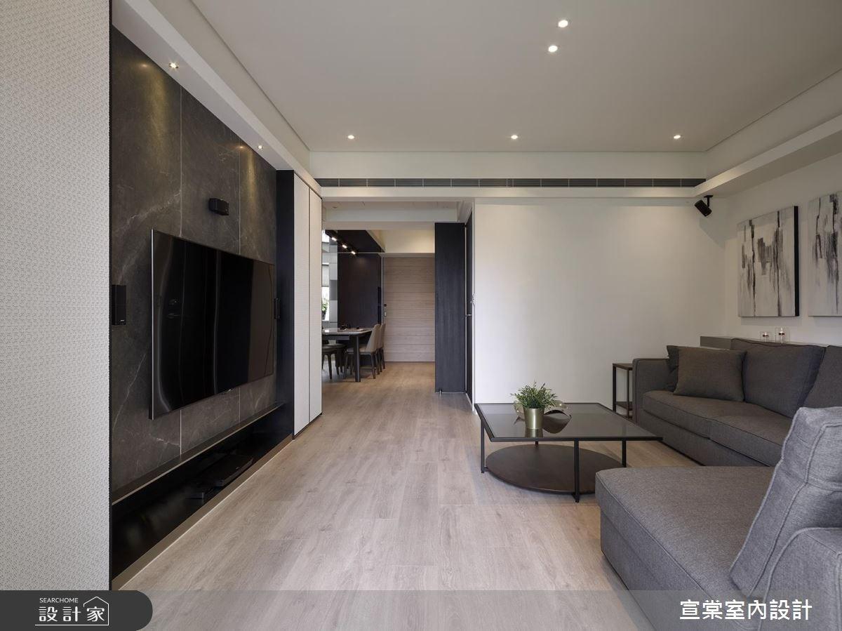 27坪老屋(16~30年)_現代風客廳案例圖片_宣棠室內設計_宣棠_淬煉之2