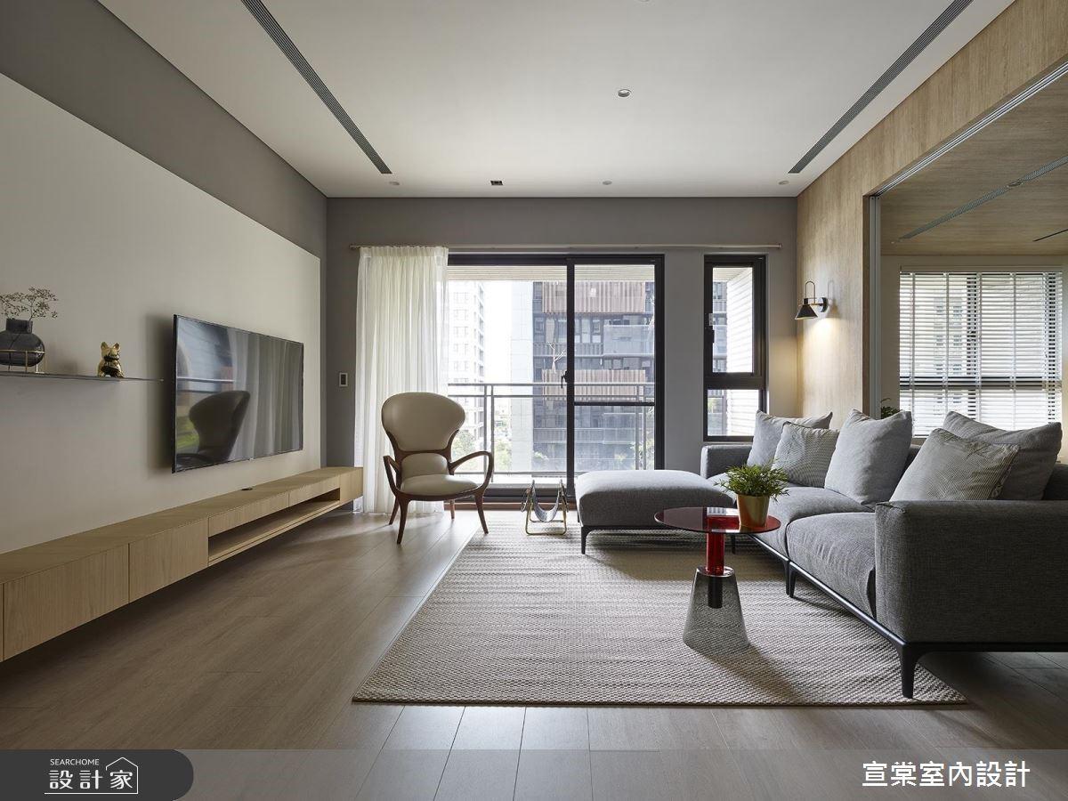 34坪新成屋(5年以下)_北歐風客廳案例圖片_宣棠室內設計_宣棠_悠白漫遊之3