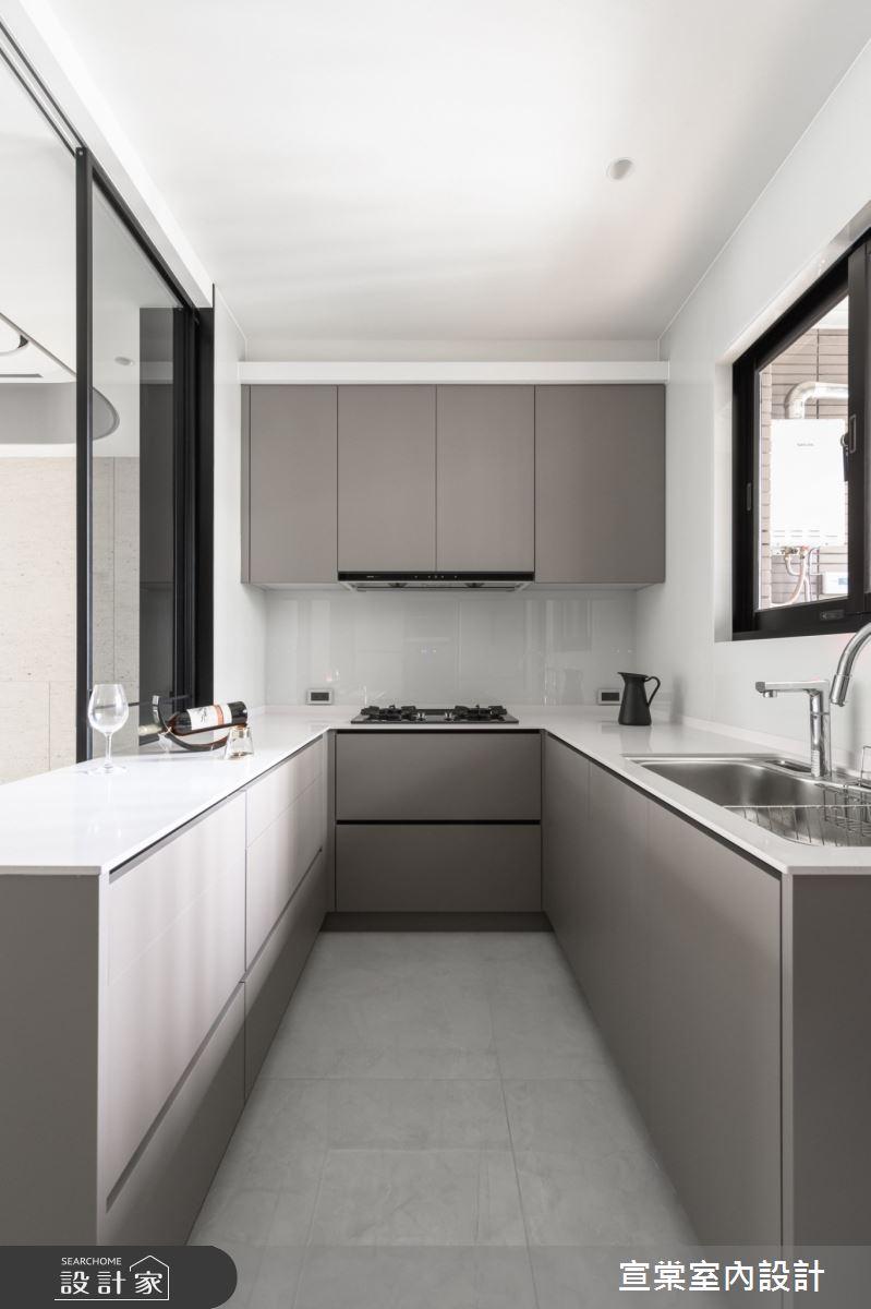 新成屋(5年以下)_現代風廚房案例圖片_宣棠室內設計_宣棠_淳美學之4