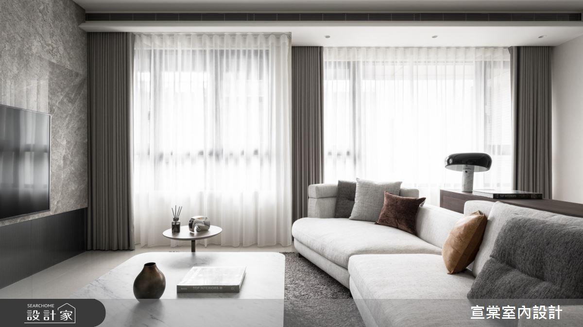 30坪新成屋(5年以下)_現代風客廳案例圖片_宣棠室內設計_宣棠_涵養逸居之3