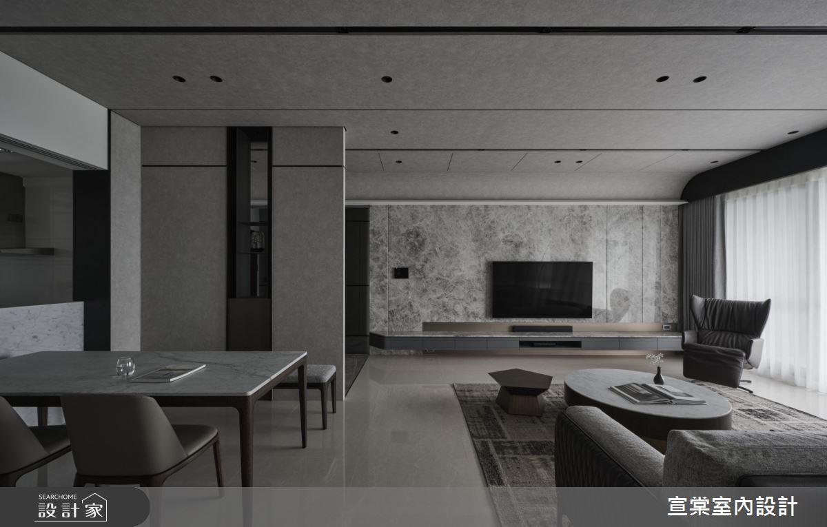 38坪新成屋(5年以下)_現代風客廳案例圖片_宣棠室內設計_宣棠_水岸覺旅之2