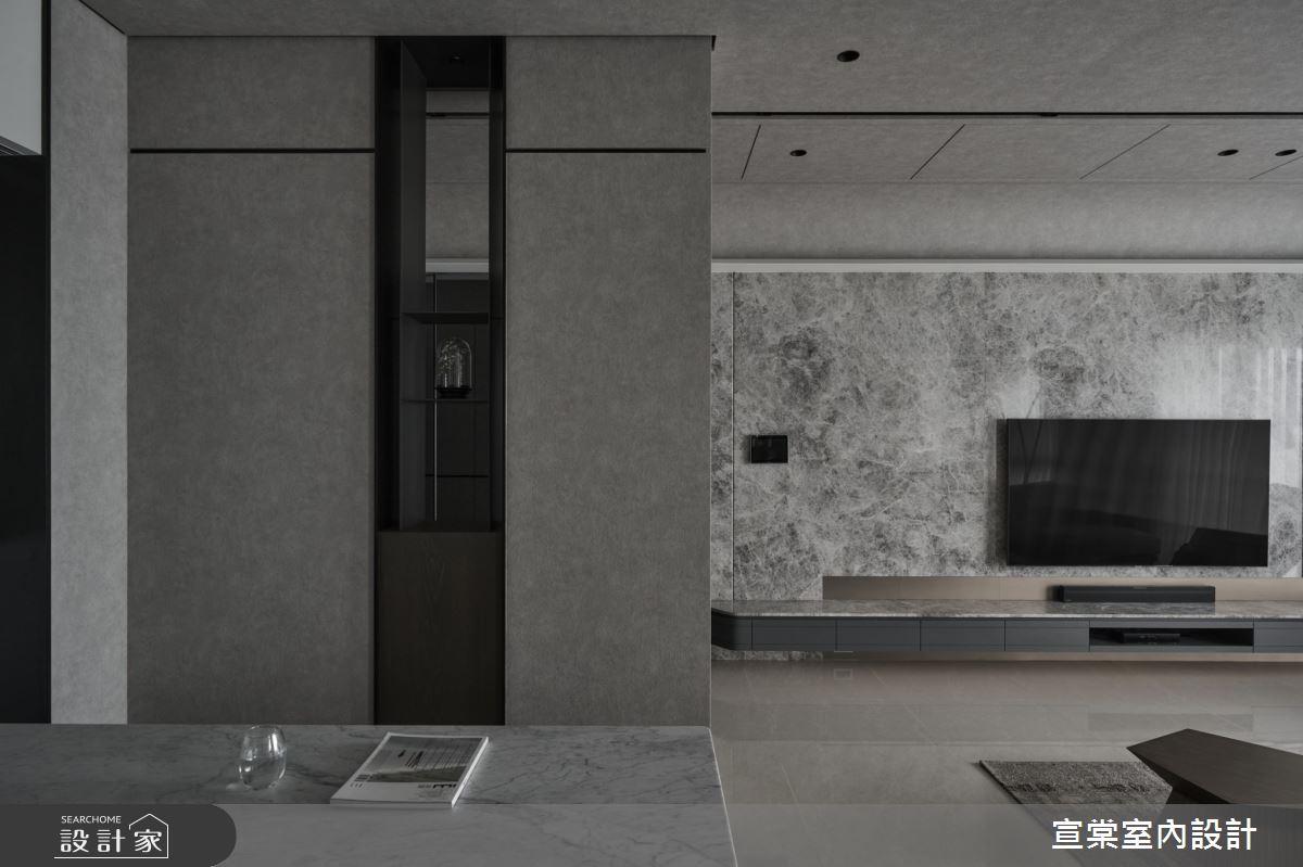 38坪新成屋(5年以下)_現代風客廳案例圖片_宣棠室內設計_宣棠_水岸覺旅之3