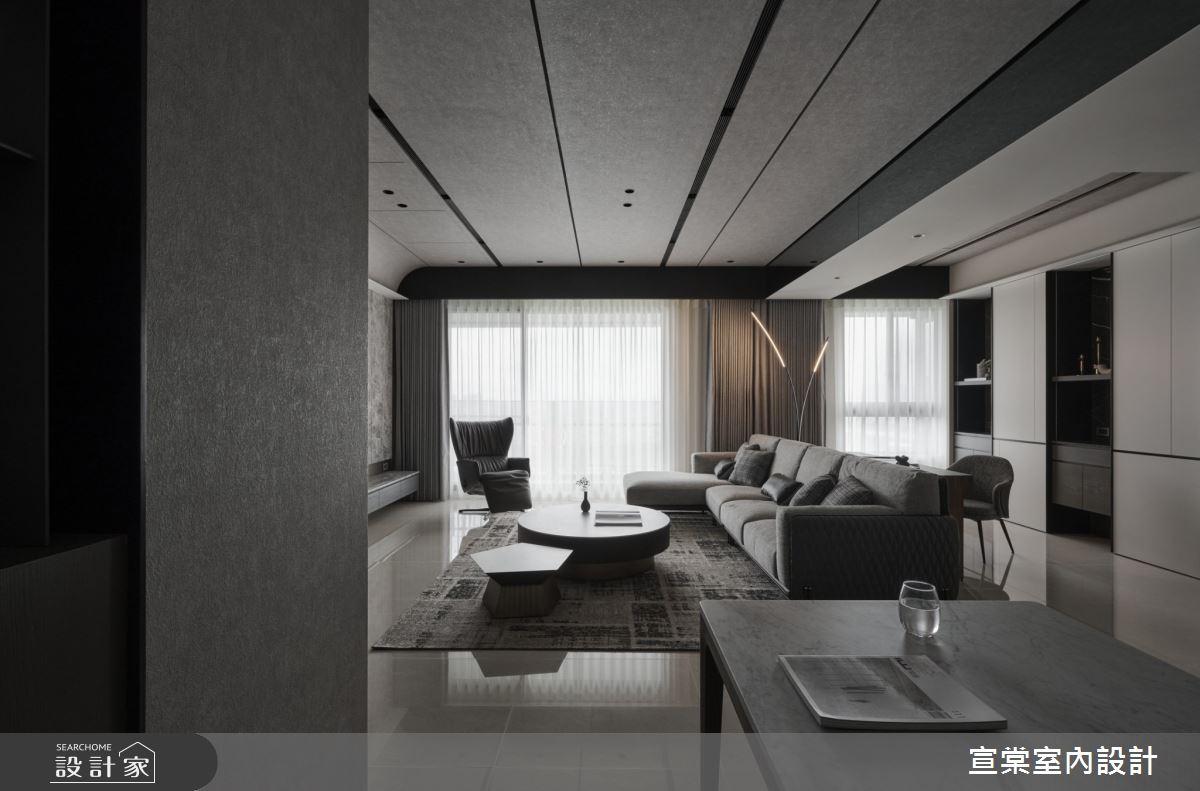 38坪新成屋(5年以下)_現代風客廳案例圖片_宣棠室內設計_宣棠_水岸覺旅之4