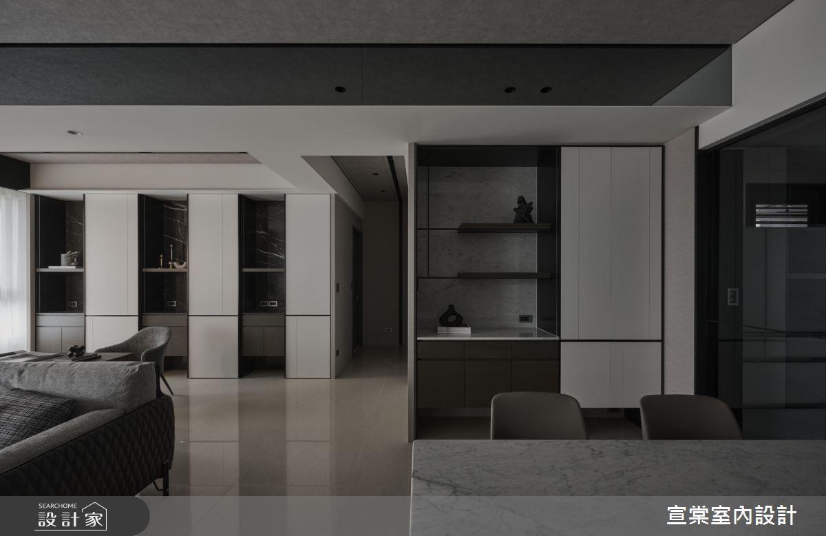 38坪新成屋(5年以下)_現代風客廳案例圖片_宣棠室內設計_宣棠_水岸覺旅之5