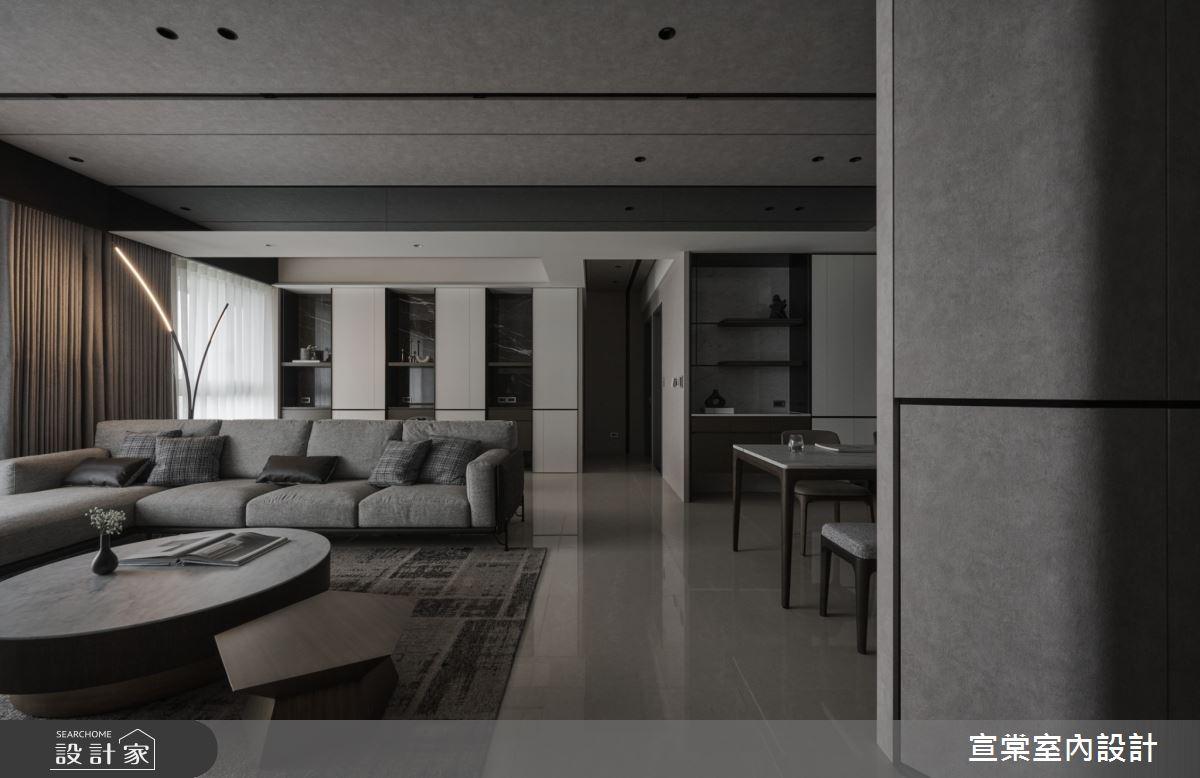 38坪新成屋(5年以下)_現代風客廳案例圖片_宣棠室內設計_宣棠_水岸覺旅之6