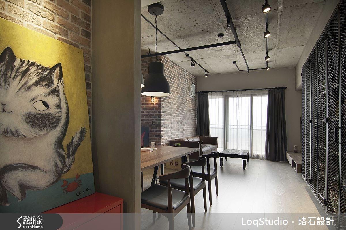 32坪新成屋(5年以下)_工業風餐廳案例圖片_珞石室內裝修有限公司_珞石_01之1