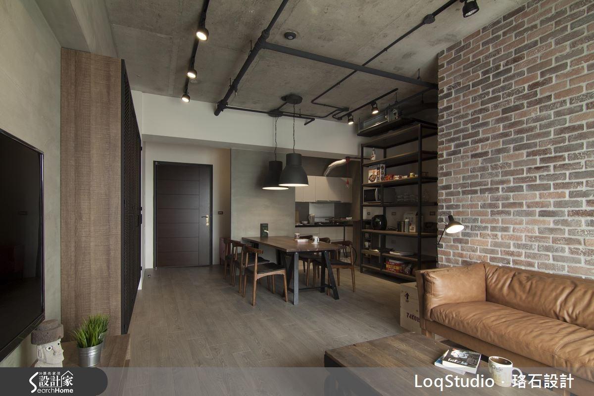 32坪新成屋(5年以下)_工業風餐廳案例圖片_珞石室內裝修有限公司_珞石_01之2
