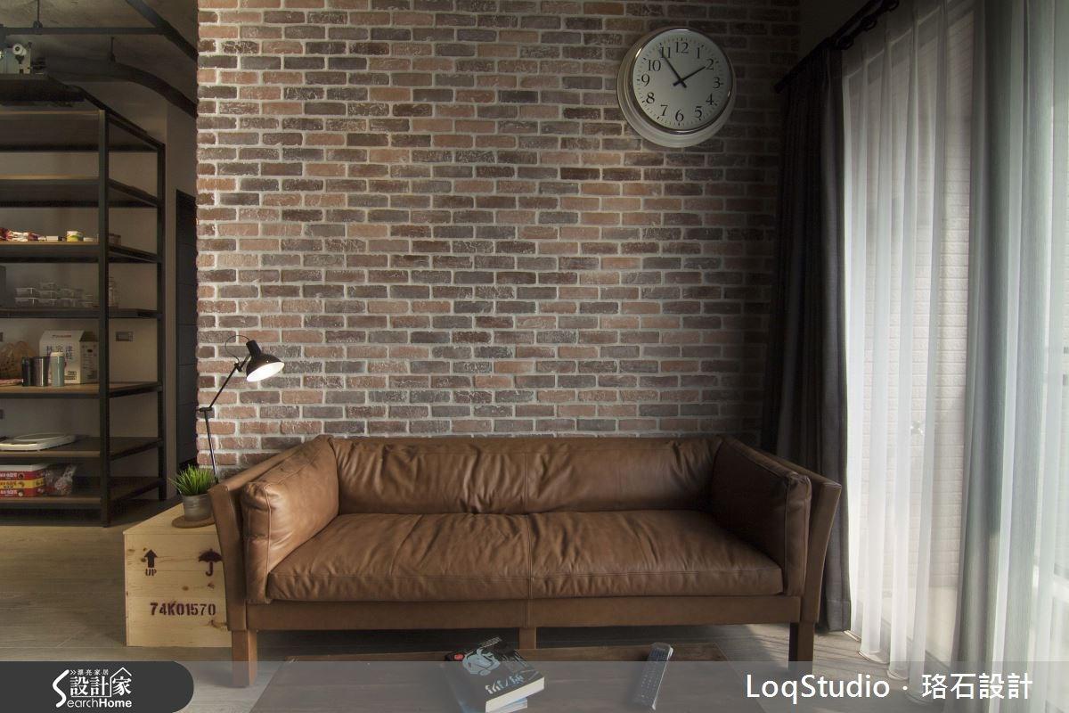 32坪新成屋(5年以下)_工業風客廳案例圖片_珞石室內裝修有限公司_珞石_01之3