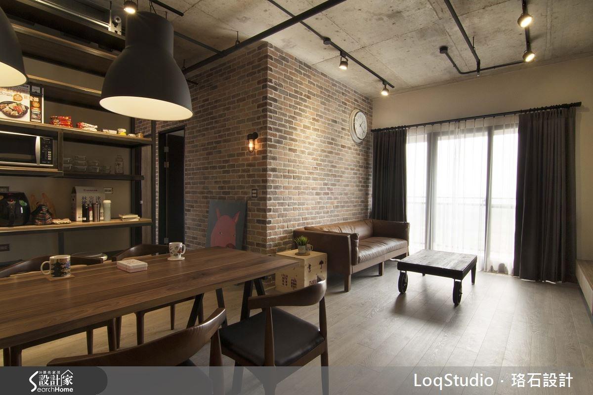 32坪新成屋(5年以下)_工業風客廳餐廳案例圖片_珞石室內裝修有限公司_珞石_01之4