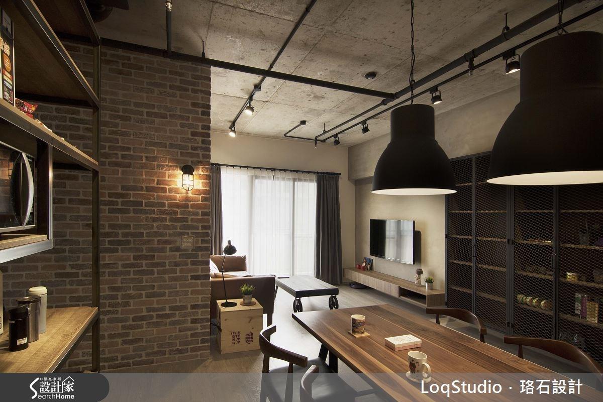 32坪新成屋(5年以下)_工業風餐廳案例圖片_珞石室內裝修有限公司_珞石_01之5