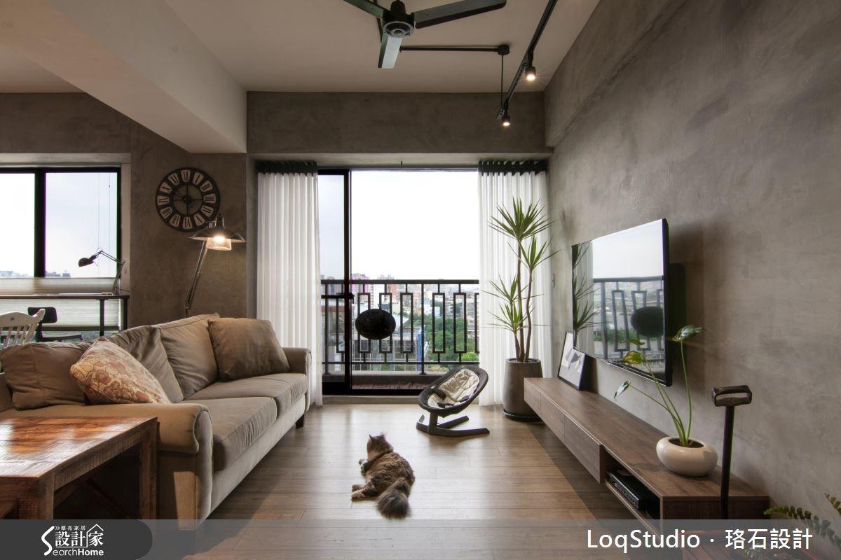 39坪新成屋(5年以下)_混搭風客廳案例圖片_珞石室內裝修有限公司_珞石_06之2
