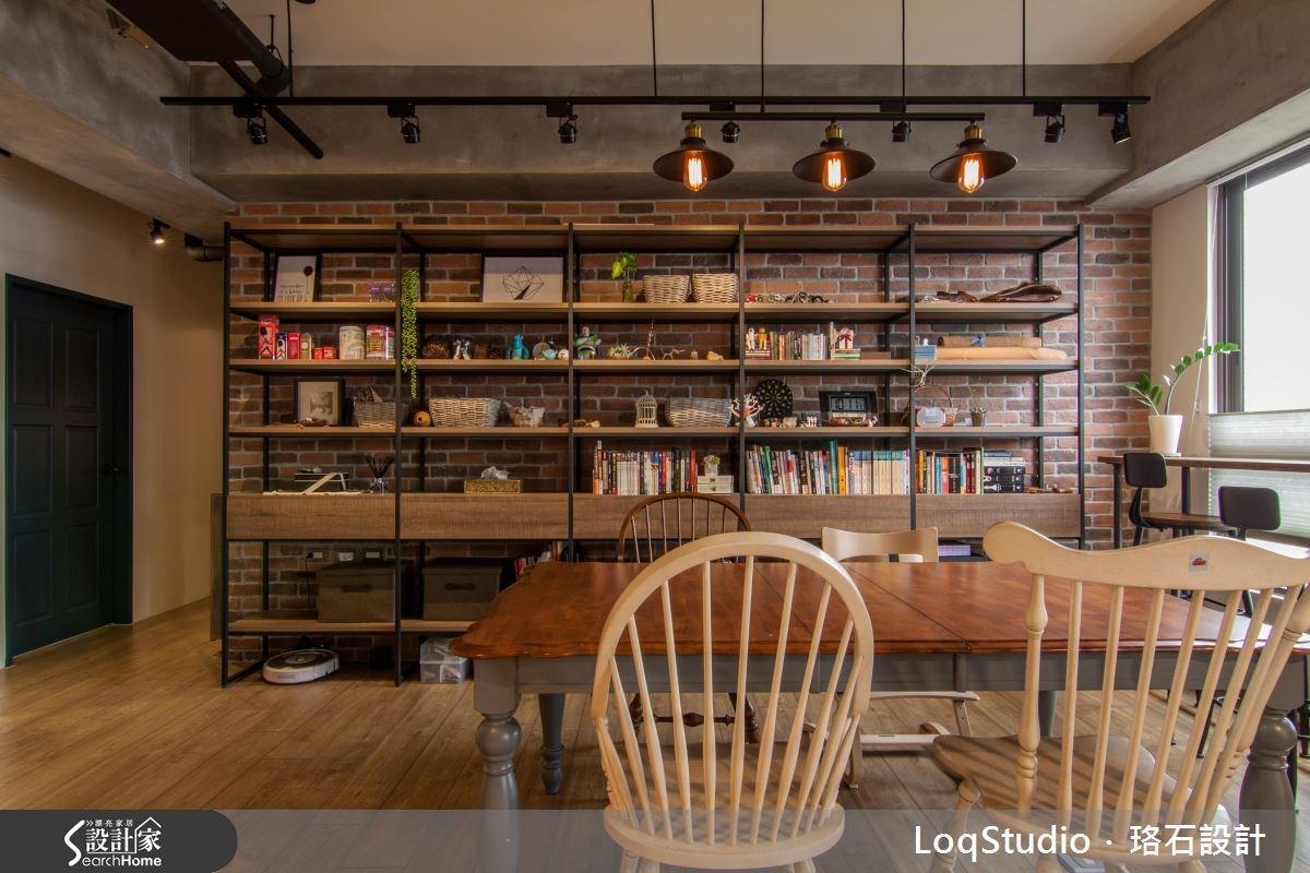 39坪新成屋(5年以下)_混搭風餐廳書房案例圖片_珞石室內裝修有限公司_珞石_06之5