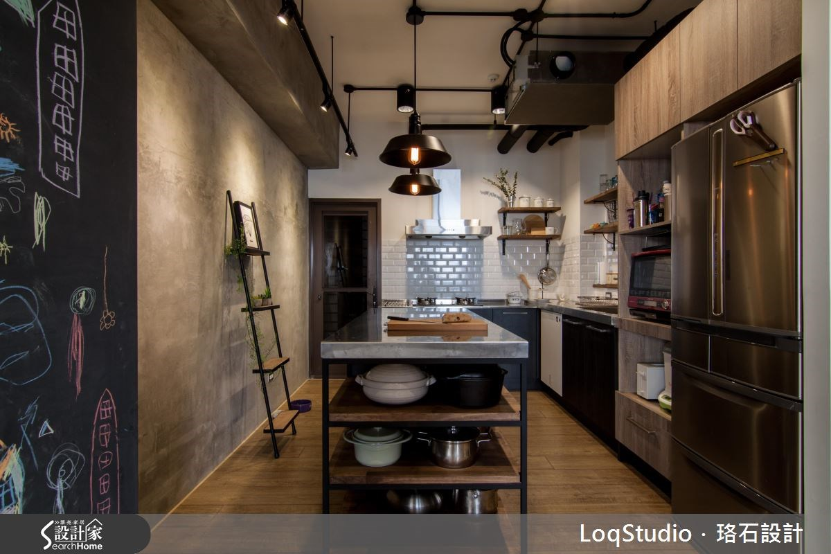 39坪新成屋(5年以下)_混搭風廚房案例圖片_珞石室內裝修有限公司_珞石_06之10