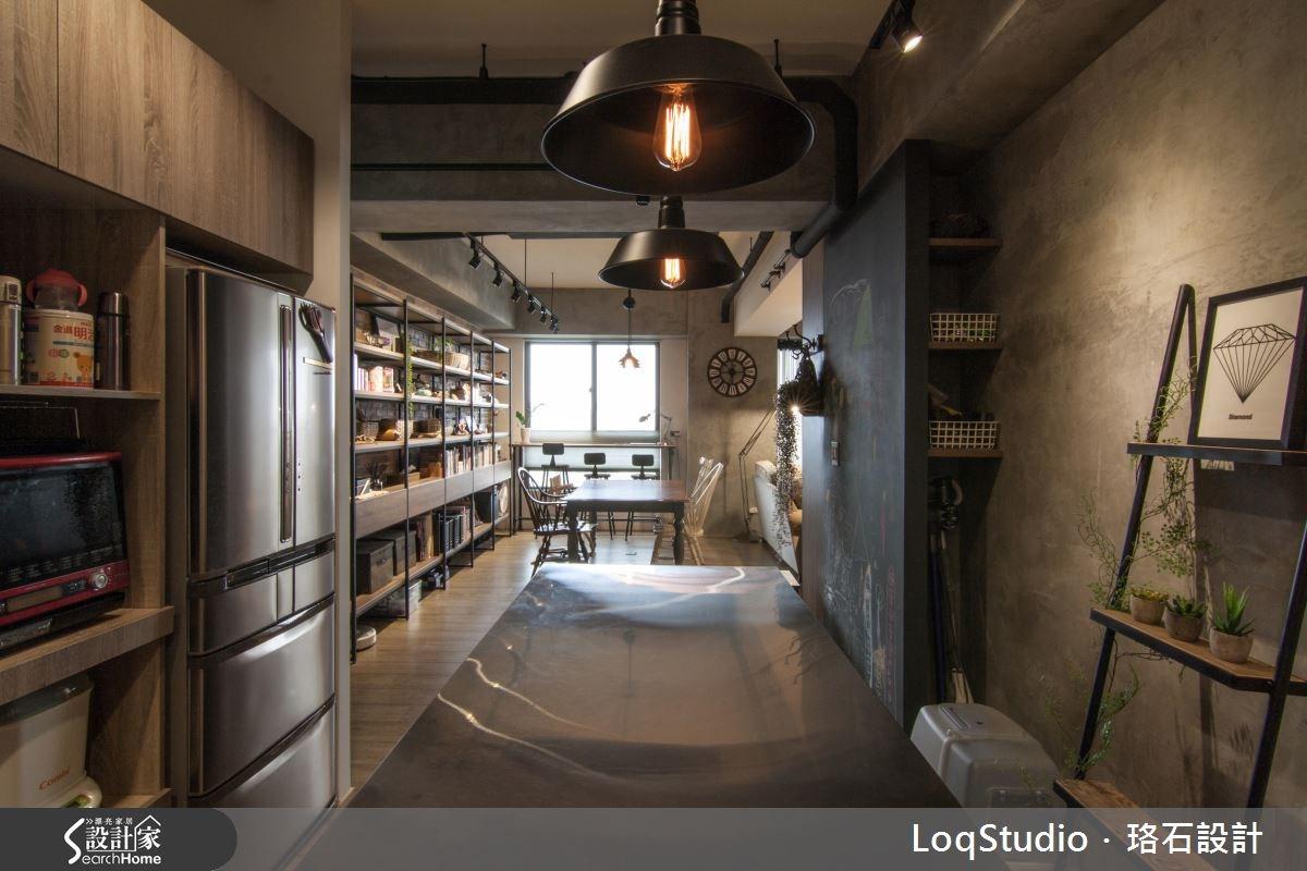 39坪新成屋(5年以下)_混搭風餐廳廚房書房案例圖片_珞石室內裝修有限公司_珞石_06之11