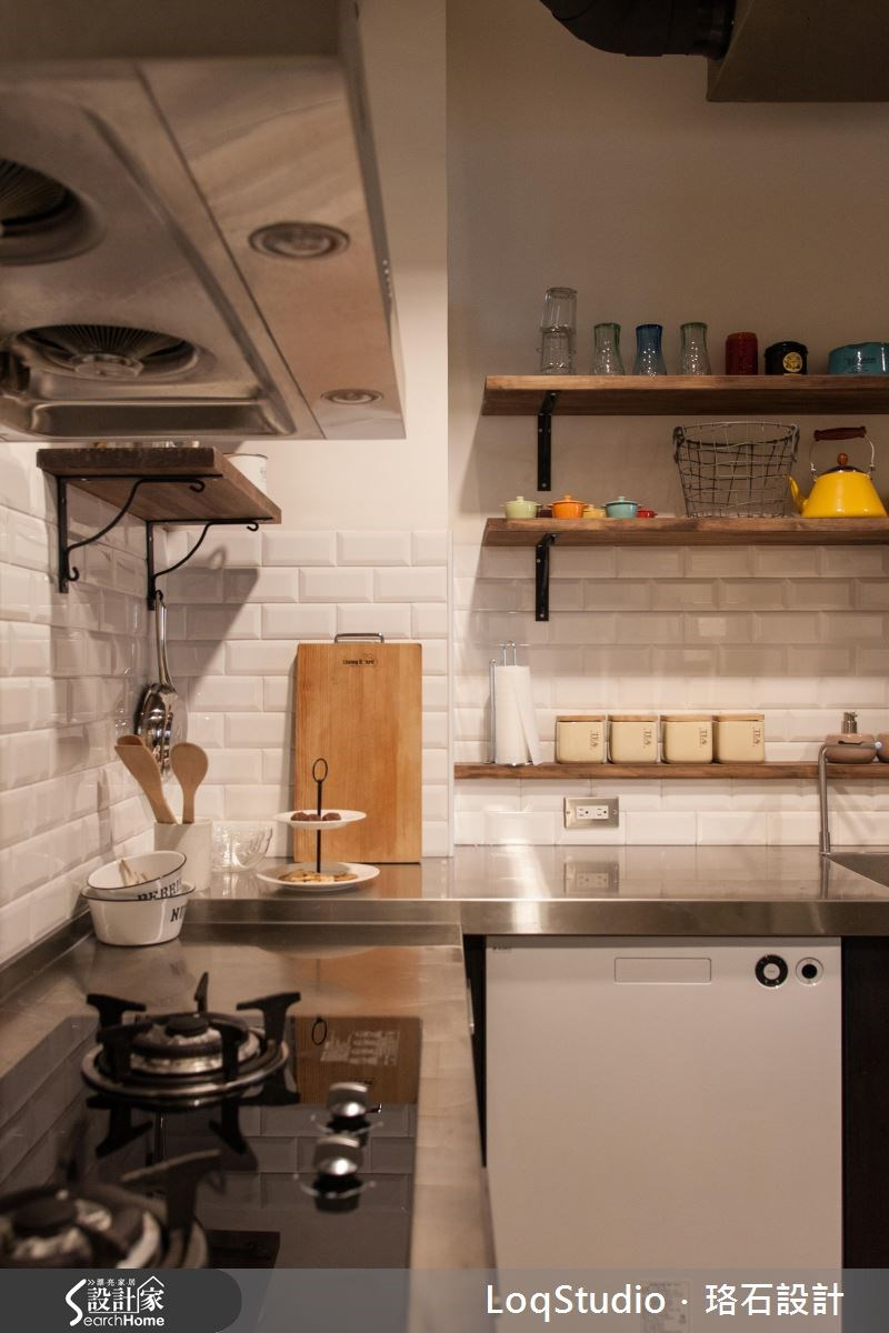 39坪新成屋(5年以下)_混搭風廚房案例圖片_珞石室內裝修有限公司_珞石_06之13