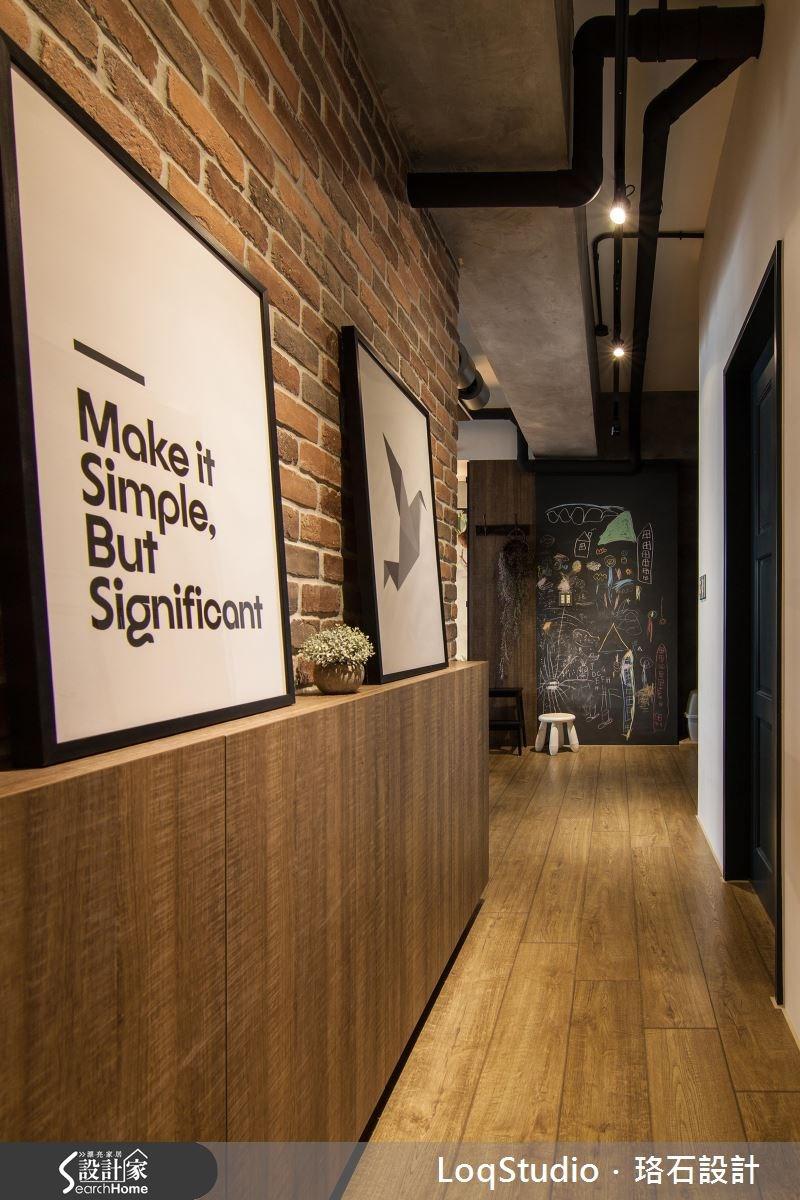 39坪新成屋(5年以下)_混搭風走廊案例圖片_珞石室內裝修有限公司_珞石_06之15