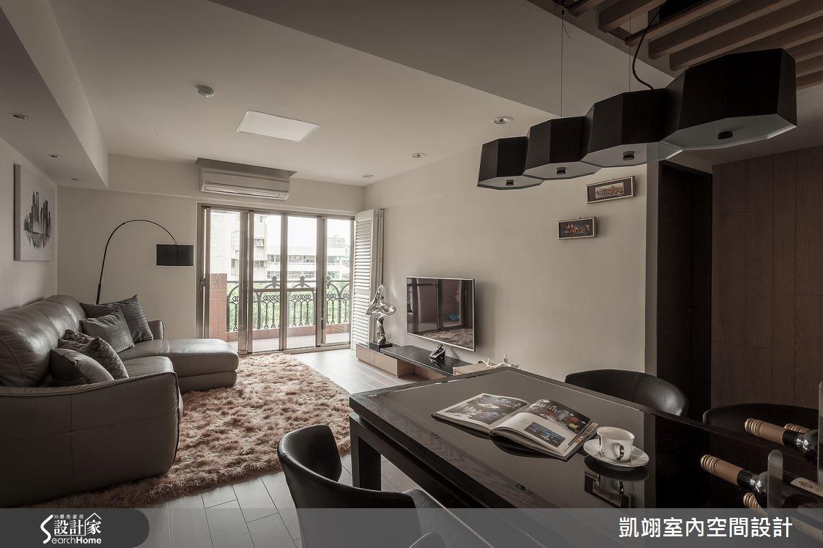 30坪老屋(16~30年)_現代風客廳餐廳案例圖片_凱翊室內空間設計_凱翊_01之3