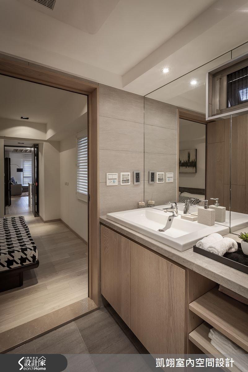30坪老屋(16~30年)_現代風浴室案例圖片_凱翊室內空間設計_凱翊_01之12