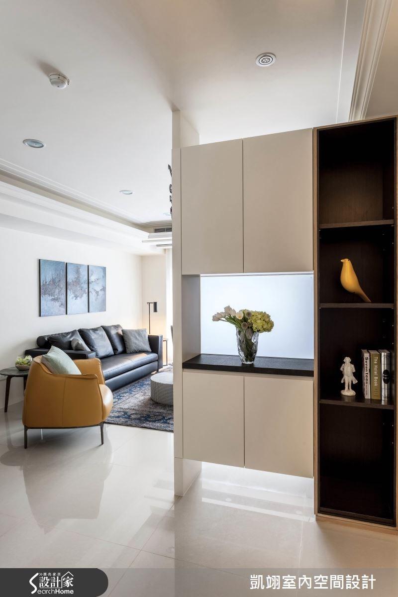 33坪新成屋(5年以下)_現代風客廳走廊案例圖片_凱翊室內空間設計_凱翊_04之1