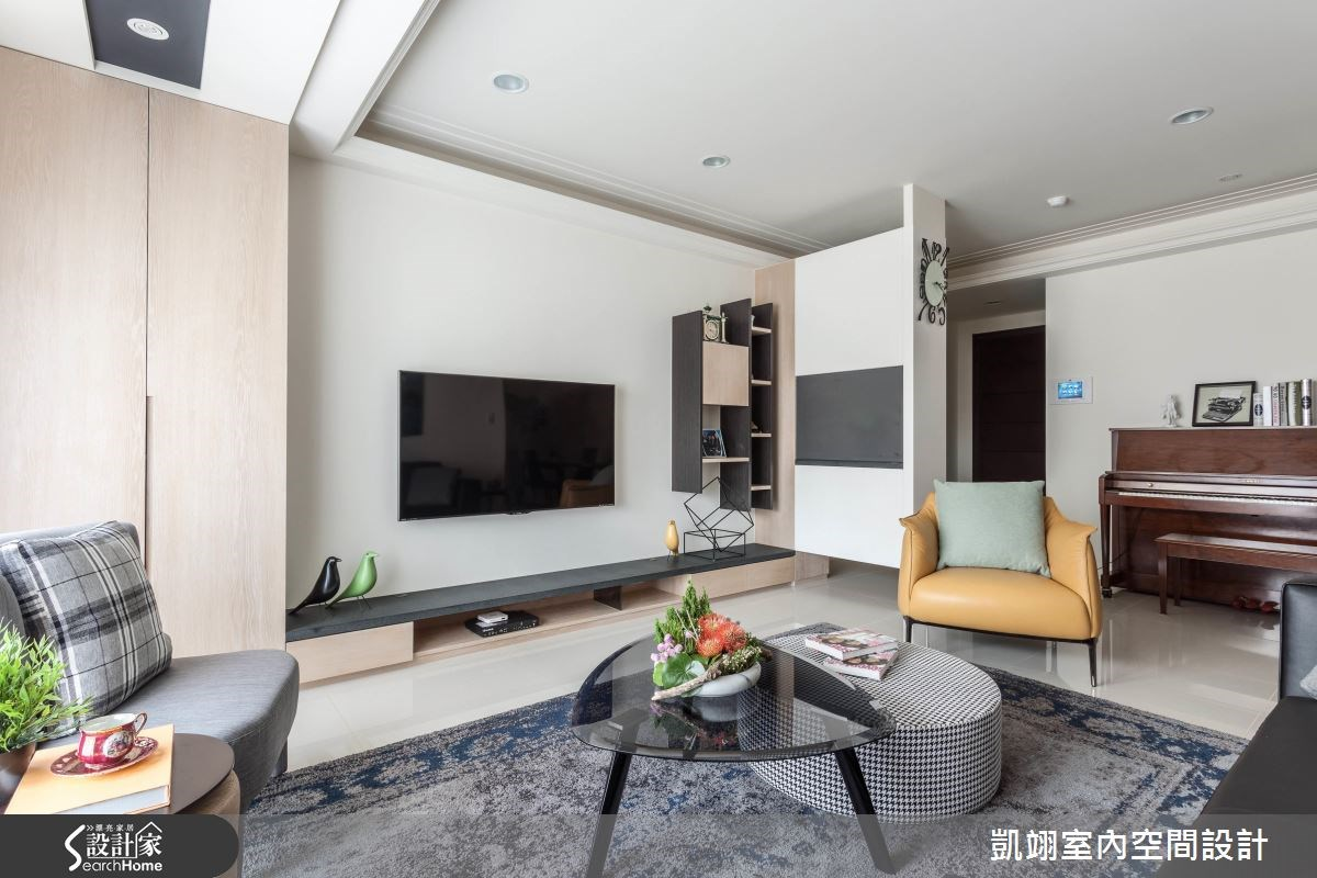 33坪新成屋(5年以下)_現代風客廳案例圖片_凱翊室內空間設計_凱翊_04之3