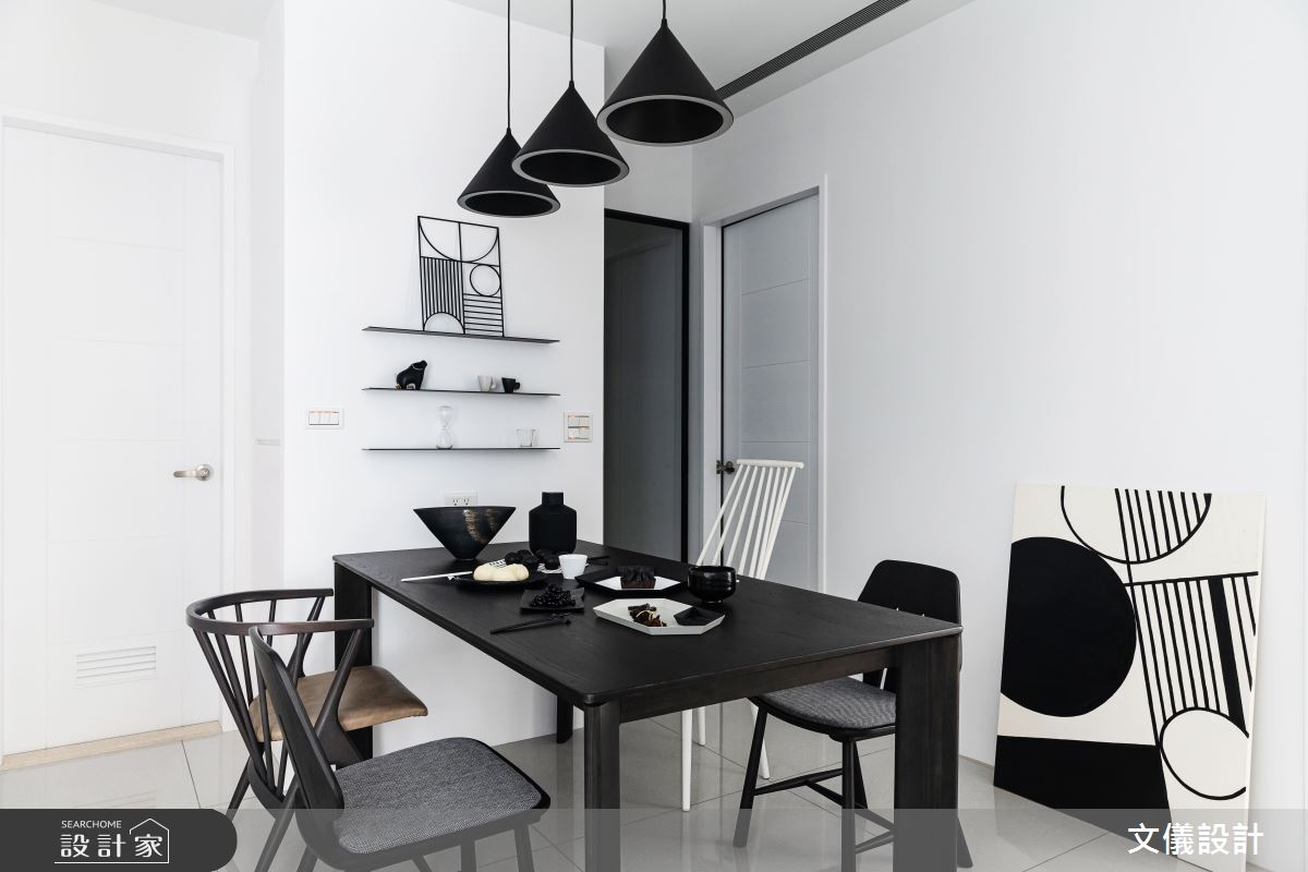 27坪新成屋(5年以下)_簡約風餐廳案例圖片_文儀室內裝修設計有限公司_文儀_型。無色之13