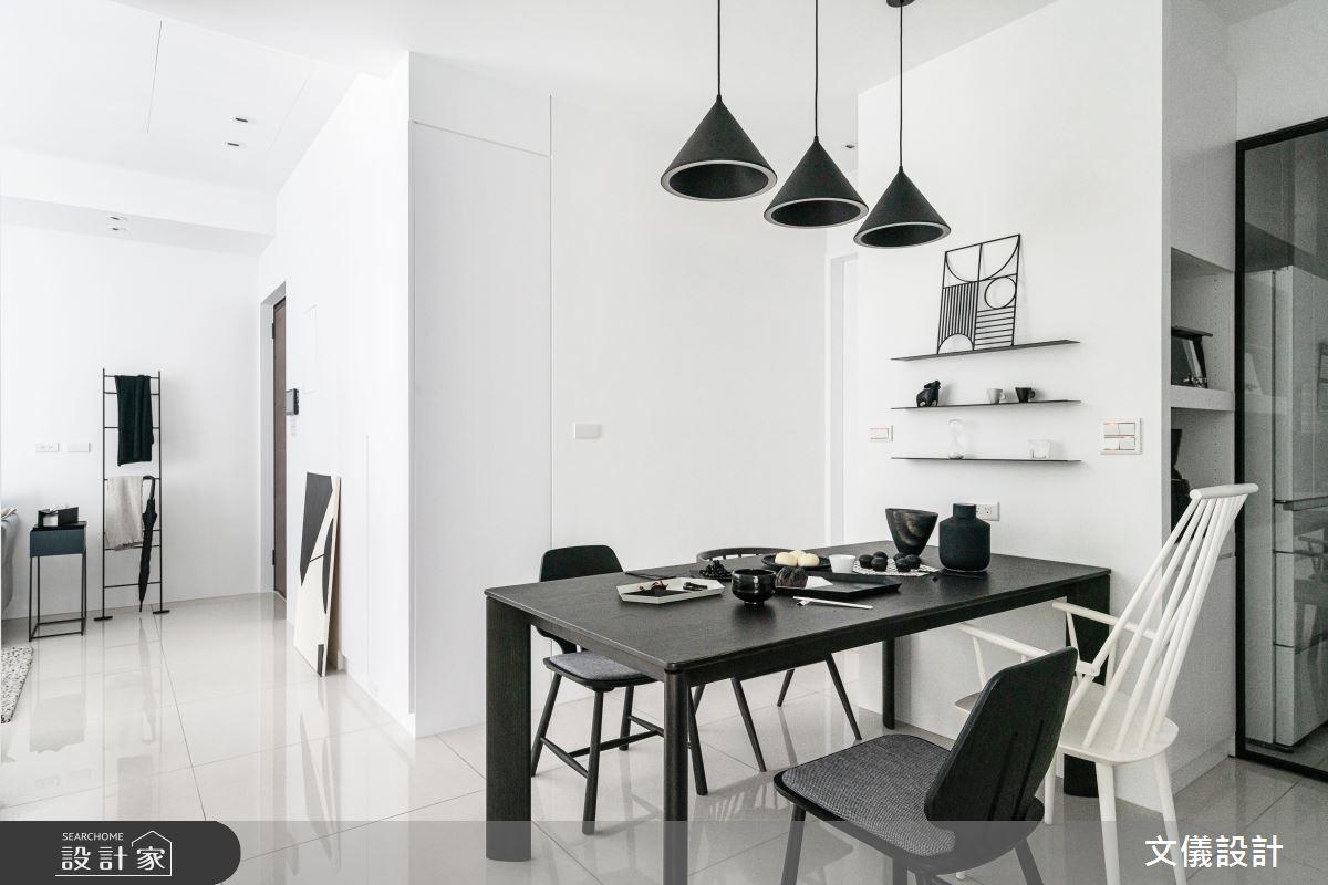 27坪新成屋(5年以下)_簡約風餐廳案例圖片_文儀室內裝修設計有限公司_文儀_型。無色之11