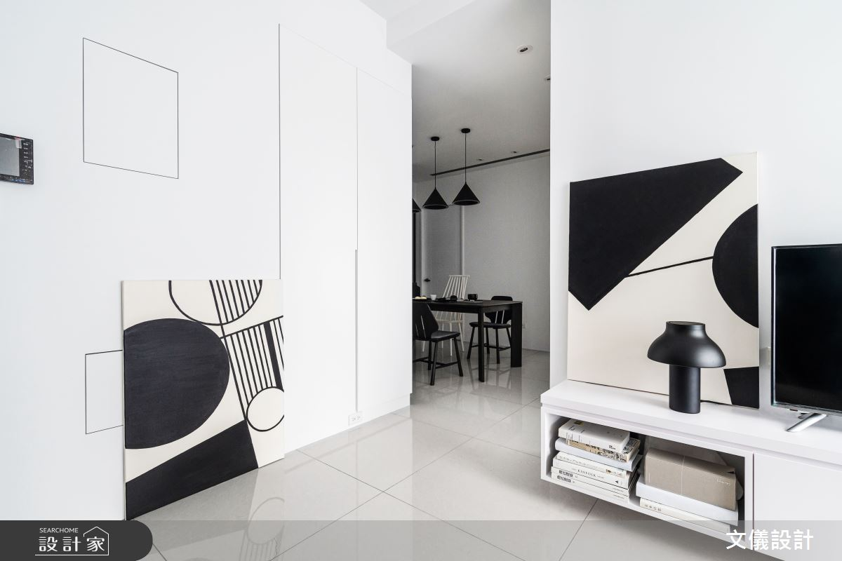 27坪新成屋(5年以下)_簡約風客廳案例圖片_文儀室內裝修設計有限公司_文儀_型。無色之9