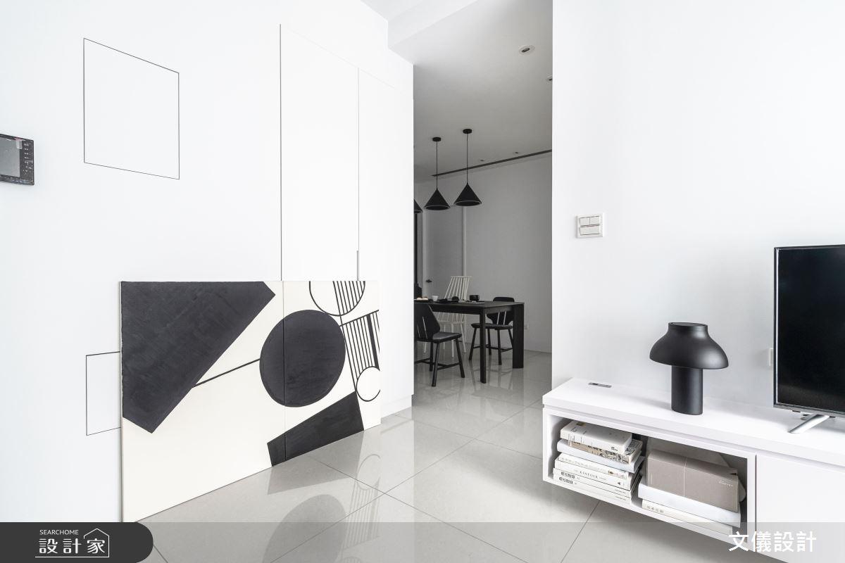 27坪新成屋(5年以下)_簡約風客廳案例圖片_文儀室內裝修設計有限公司_文儀_型。無色之8