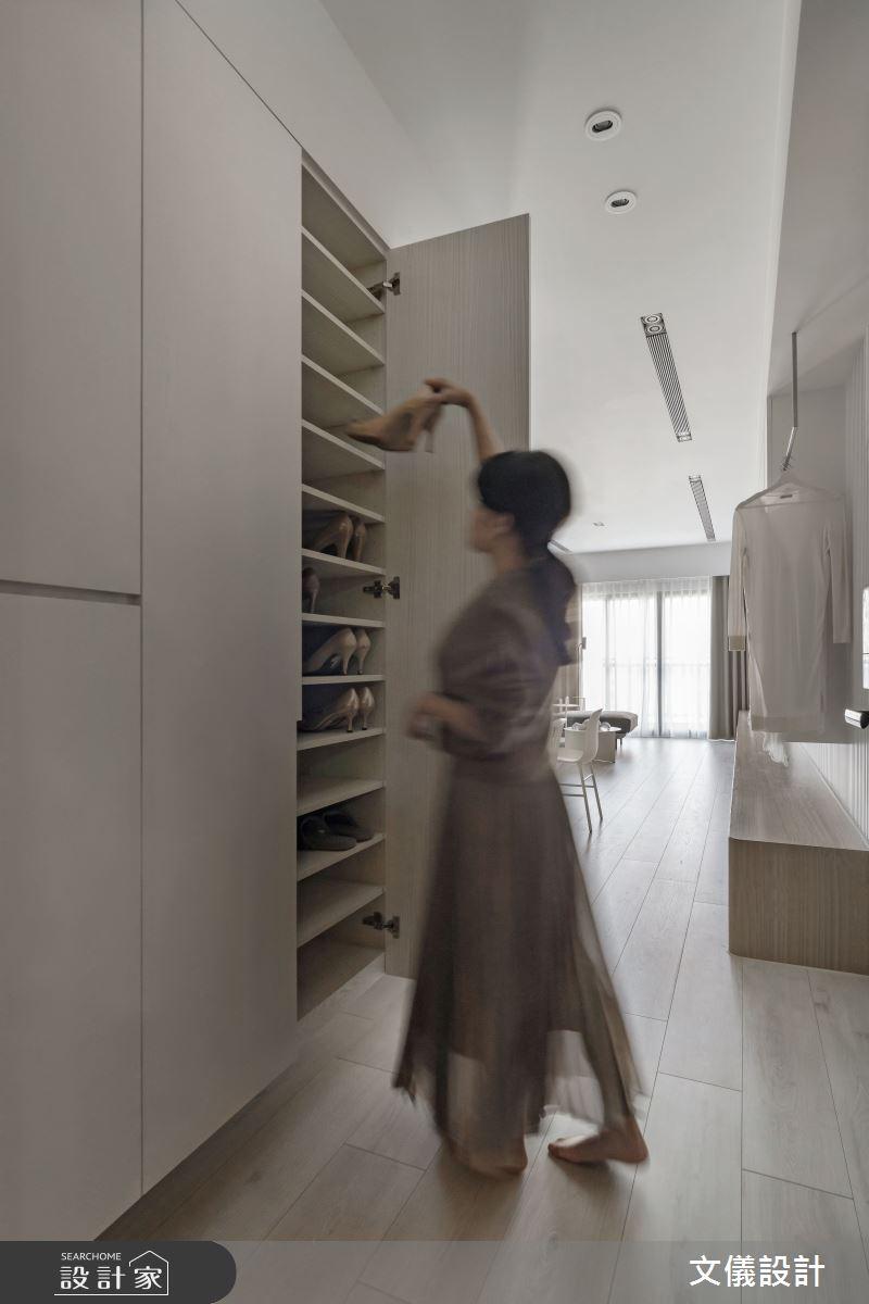 37坪新成屋(5年以下)_飯店風玄關案例圖片_文儀室內裝修設計有限公司_文儀_蘊。質淬之3